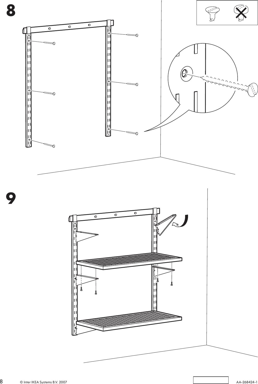 Scaffali Broder Ikea.Ikea Broder Wall Upright 83 Assembly Instruction