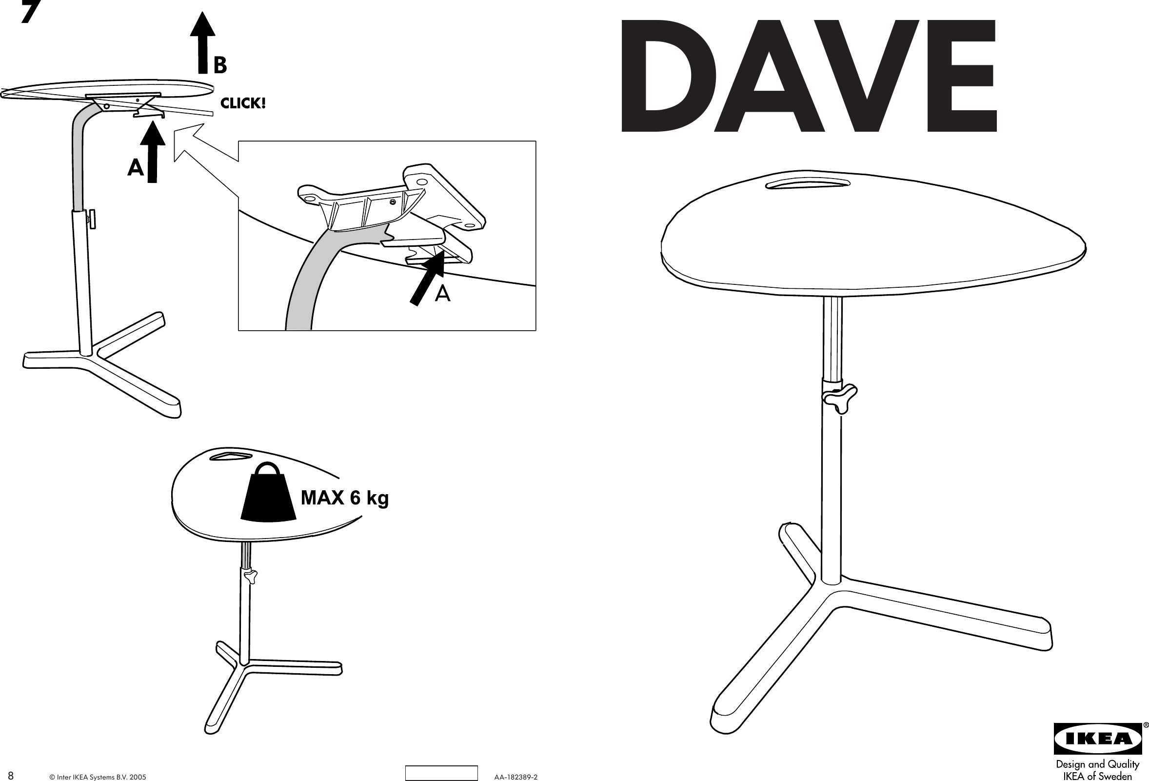 Ikea Dave Laptop Table 23 5 8x19 8