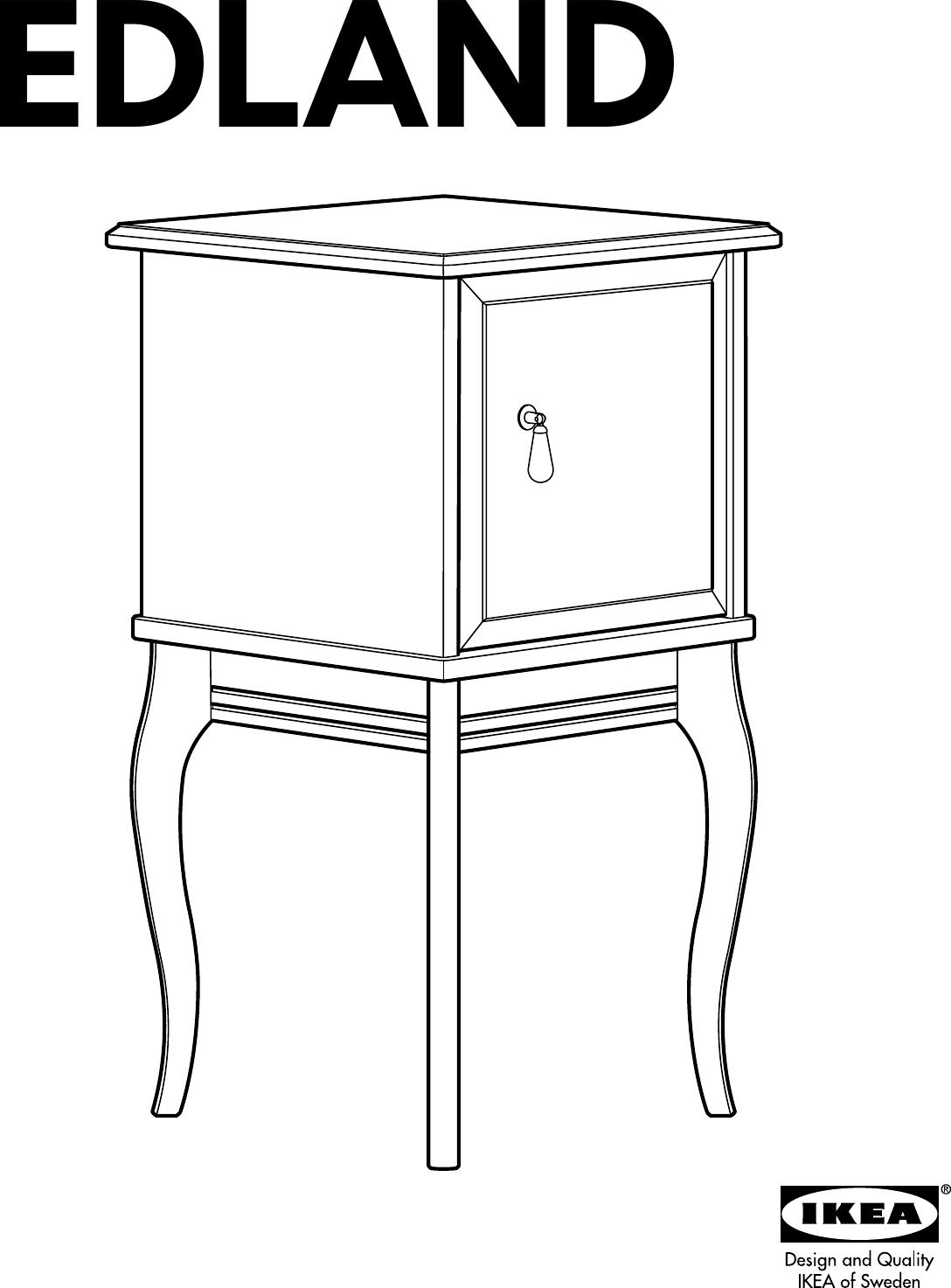 Ikea Edland Bedside Table Assembly Instruction