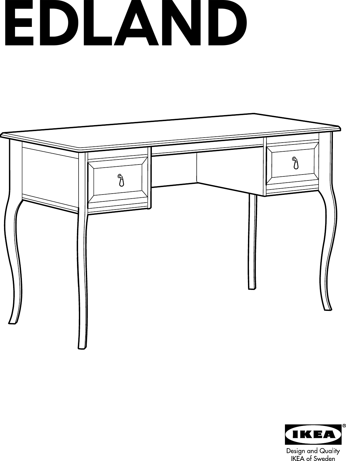 Ikea Edland Dressing Table Assembly Instruction