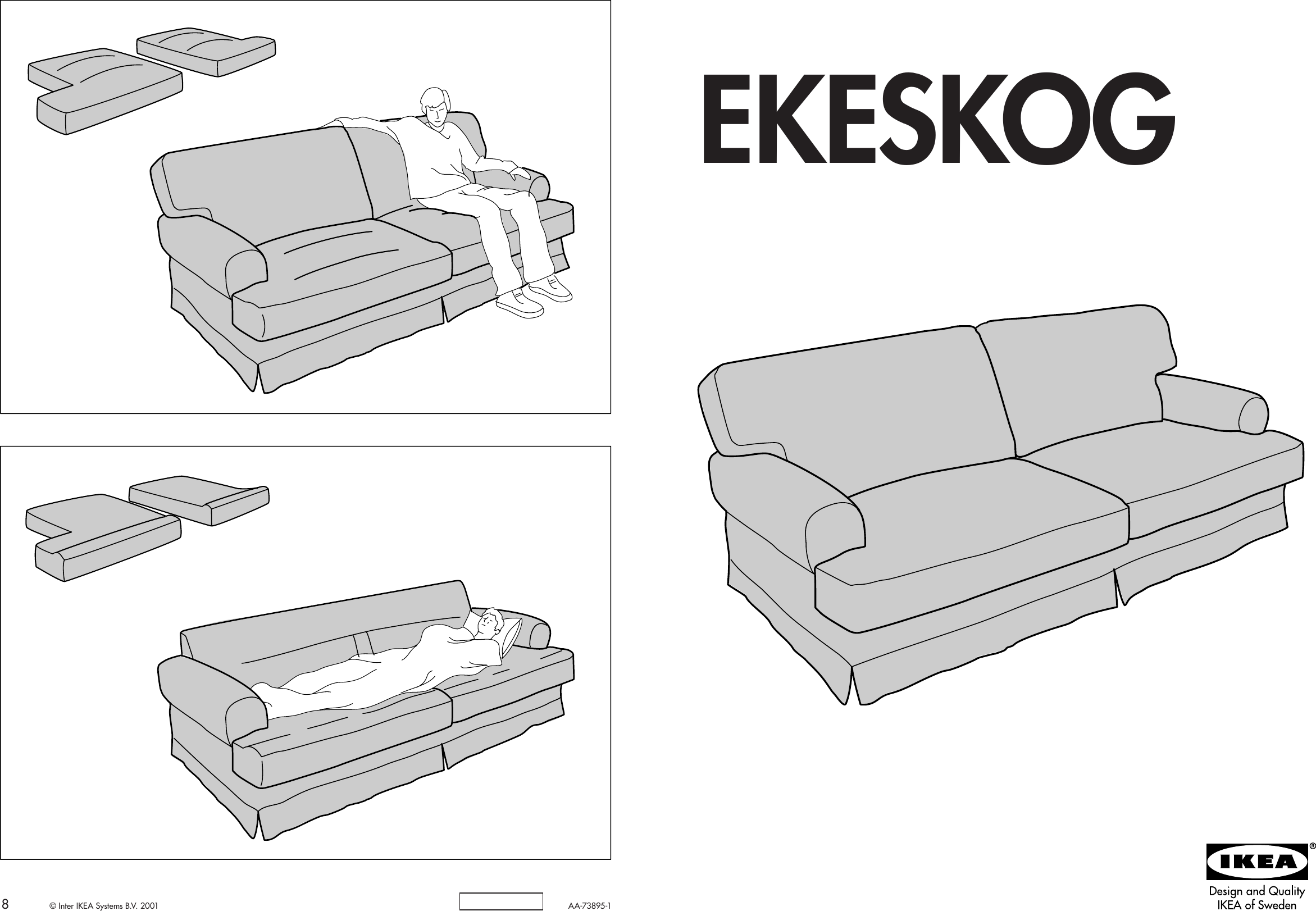Ikea Ekeskog Sofa Cover Embly