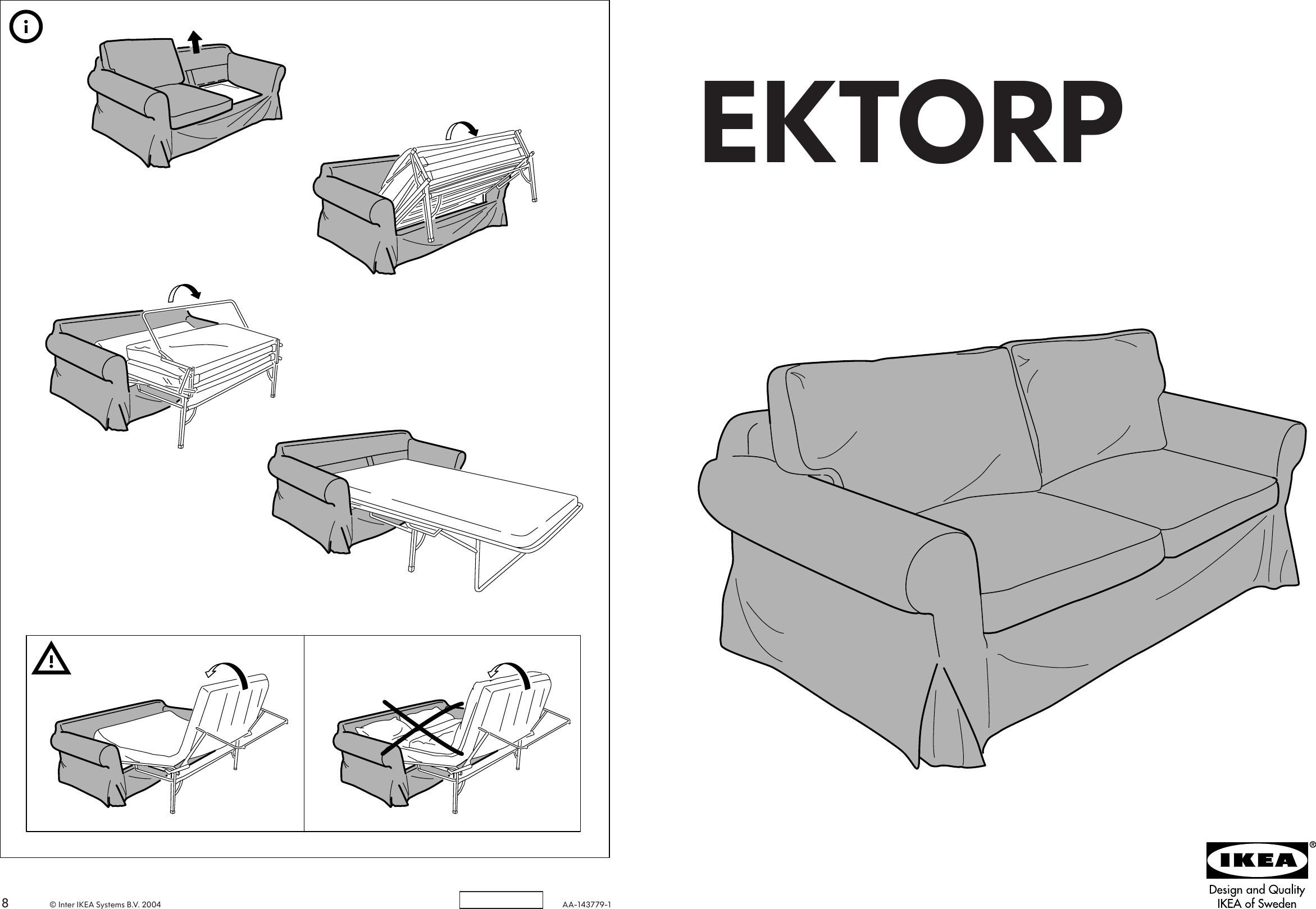 innovative design 2d50b 1ae24 Ikea Ektorp Sofa Bed Cover Assembly Instruction 2