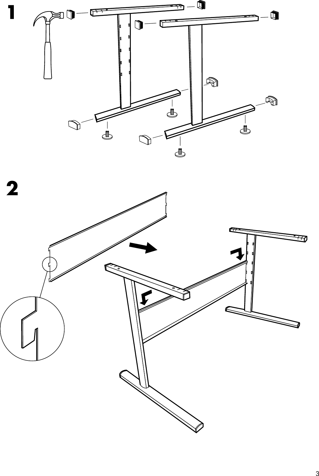 Page 3 Of 8   Ikea Ikea Fredrik Desk 55X28 Assembly