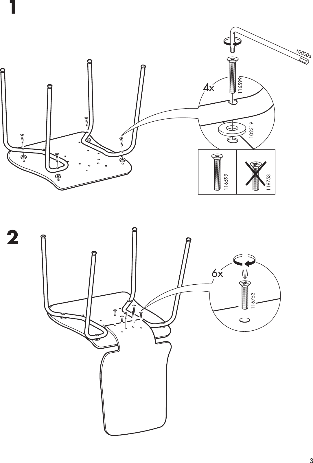 Page 3 Of 4   Ikea Ikea Gilbert Chair Assembly Instruction
