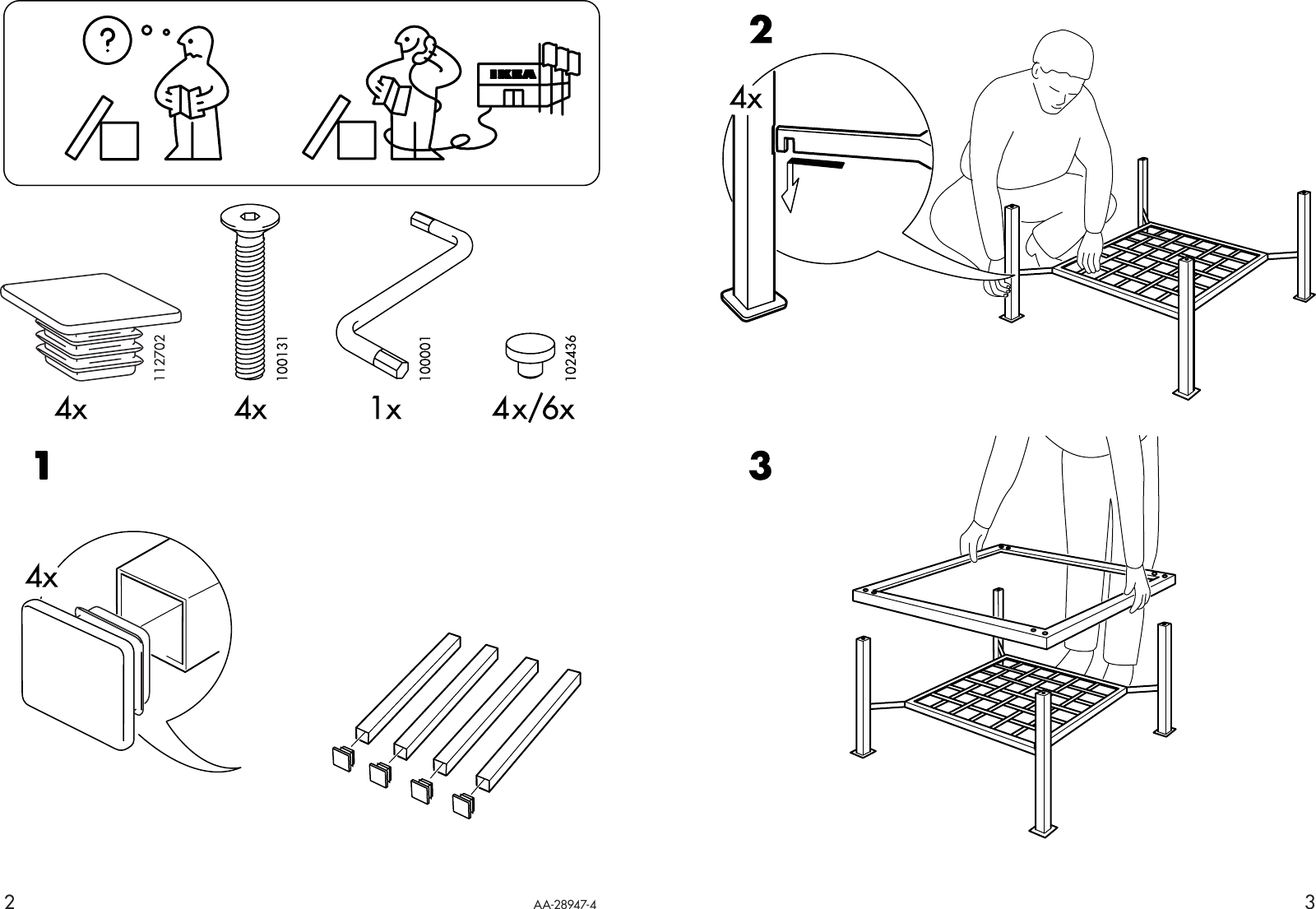 Ikea Granas Coffee Table 47x31 Embly Instruction