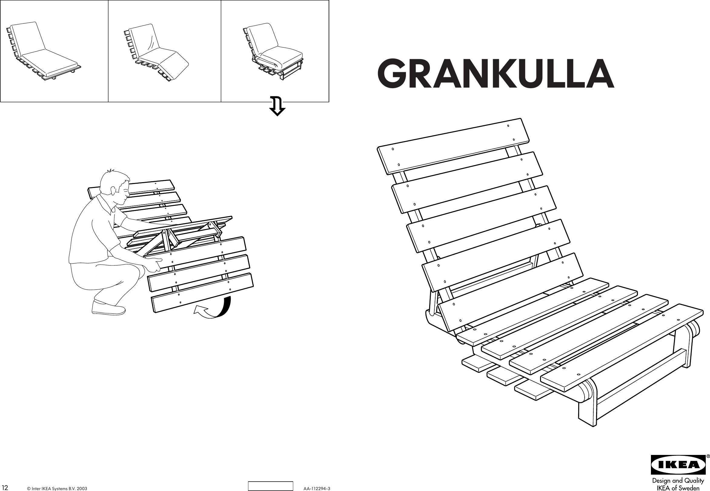 Ikea Grankulla Futon Chair Frame