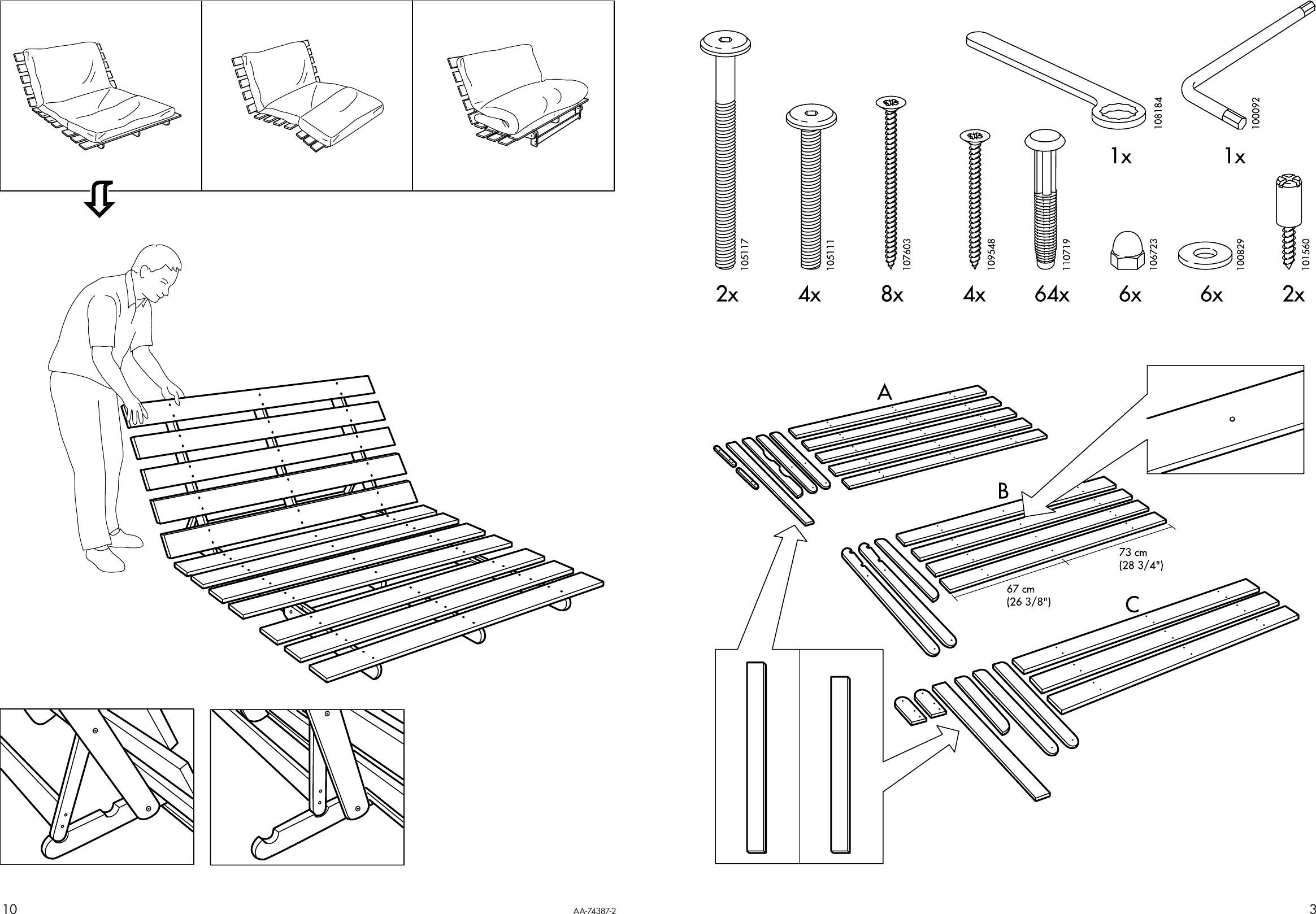 Ikea Grankulla Futon Sofa Frame