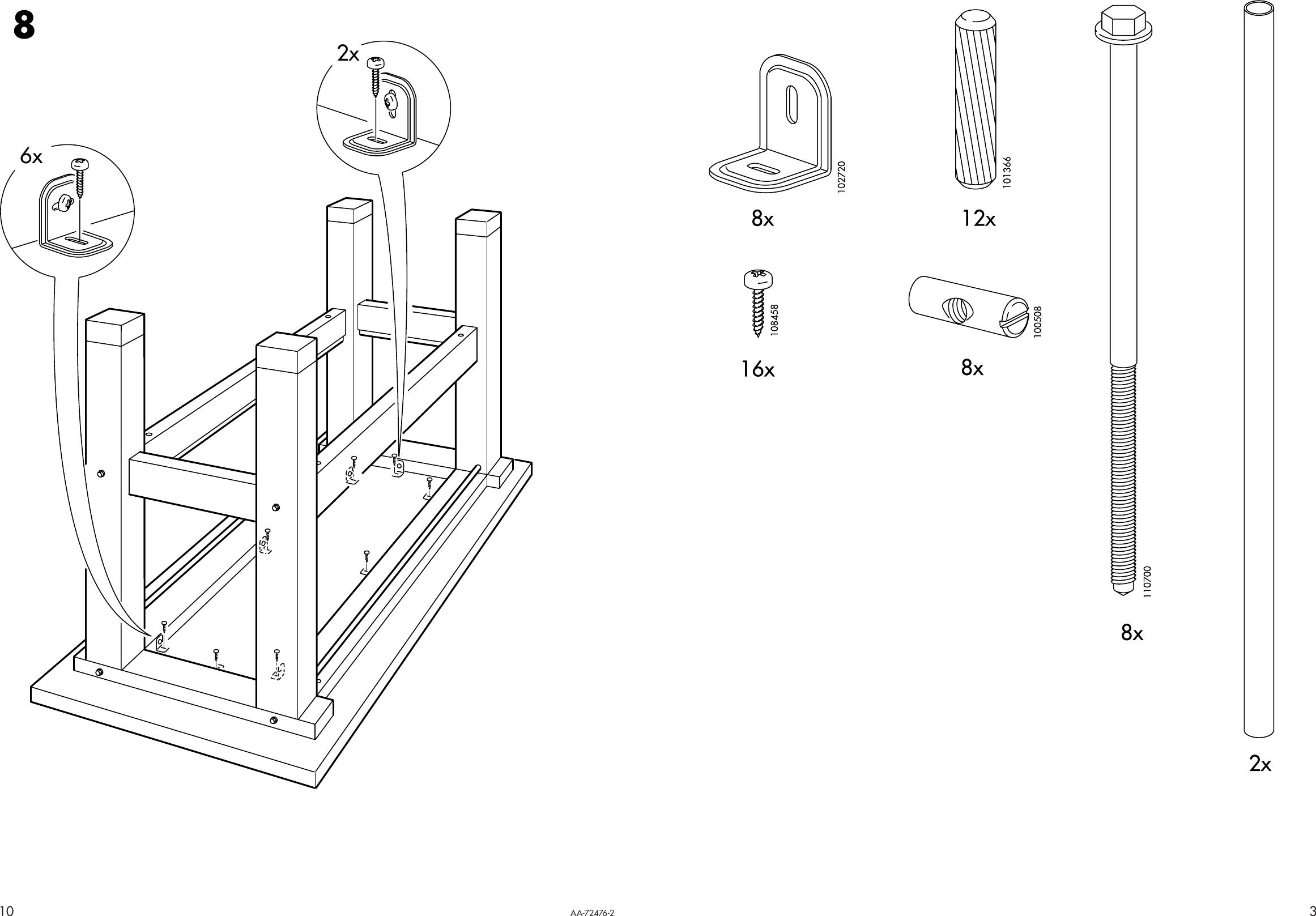 Ikea Groland Kitchen Island 47x35 Assembly Instruction 0