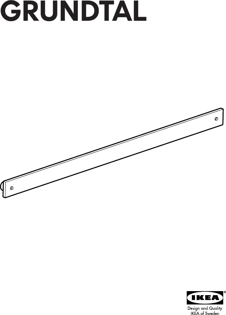 Ikea Grundtal Magnetic Knife Rack 21 Assembly Instruction