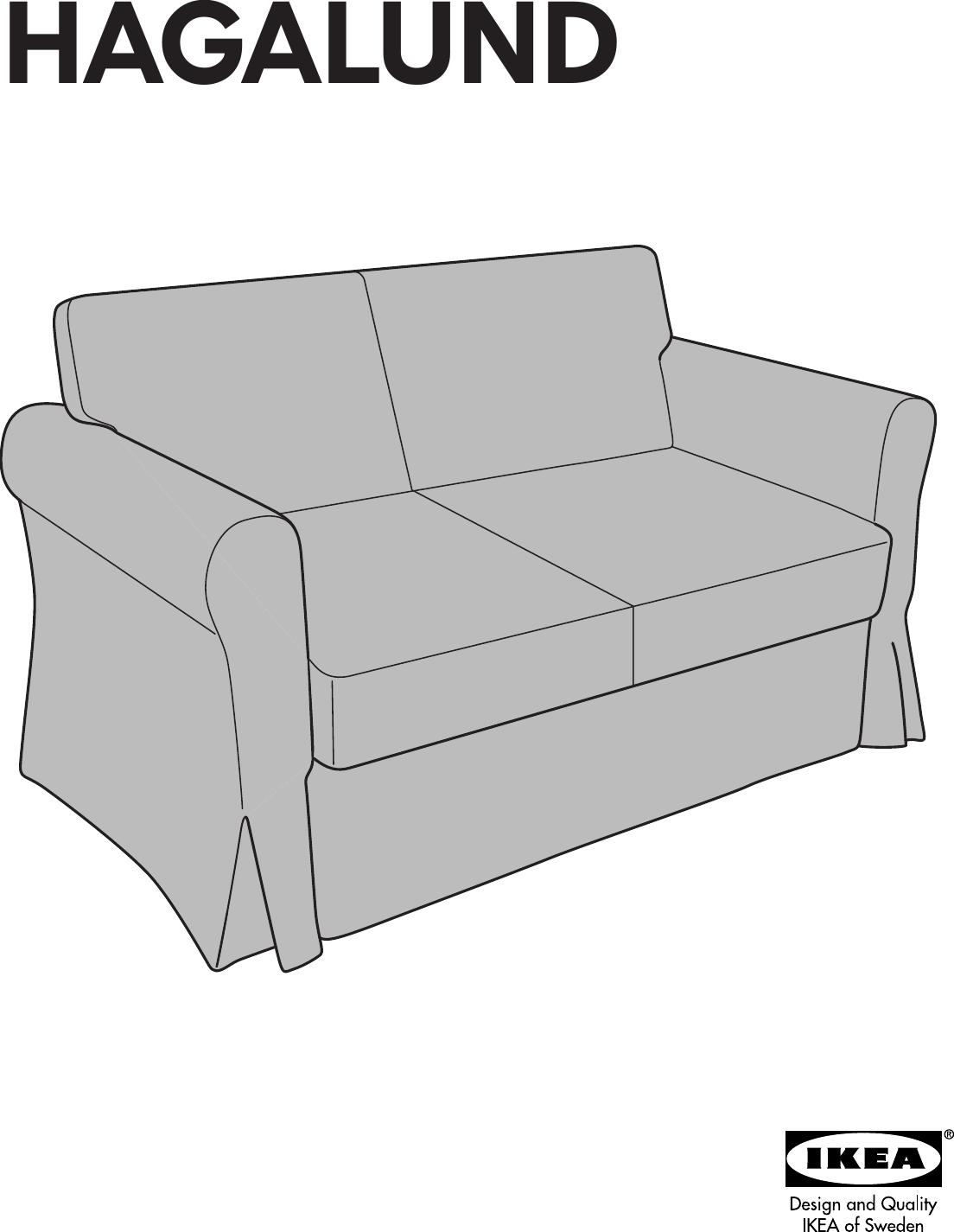Awesome Ikea Hagalund Sofa Bed Cover Assembly Instruction Inzonedesignstudio Interior Chair Design Inzonedesignstudiocom