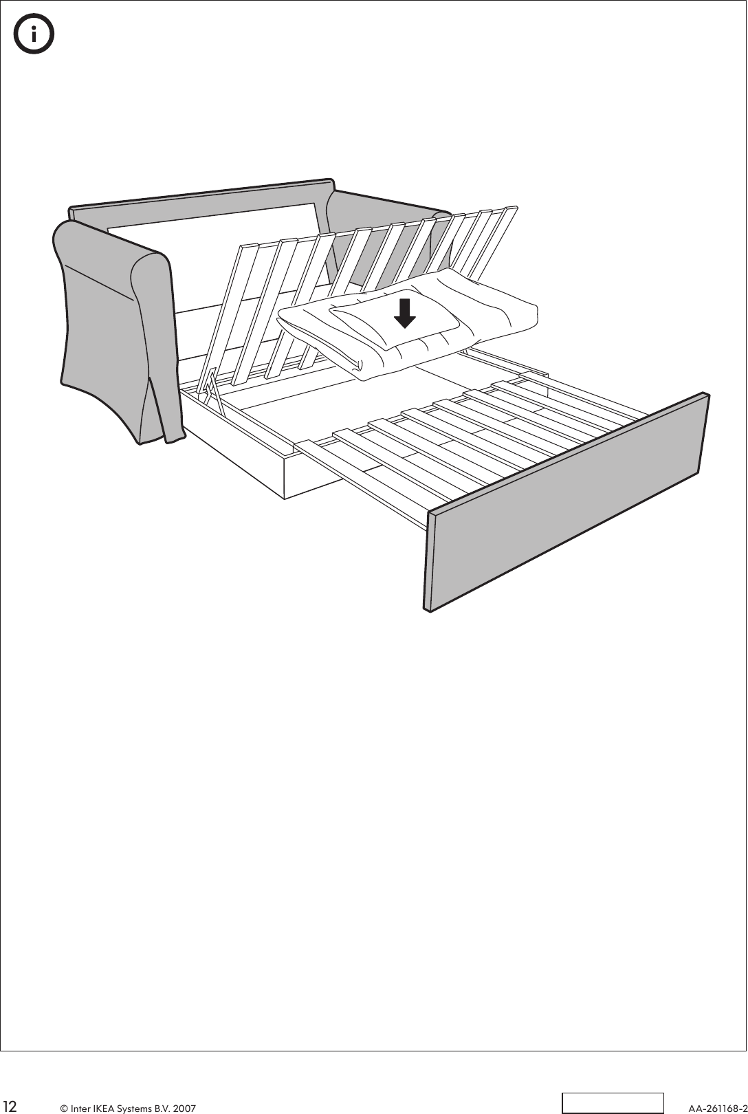 Ikea Hagalund Sofa Bed Cover Assembly Instruction