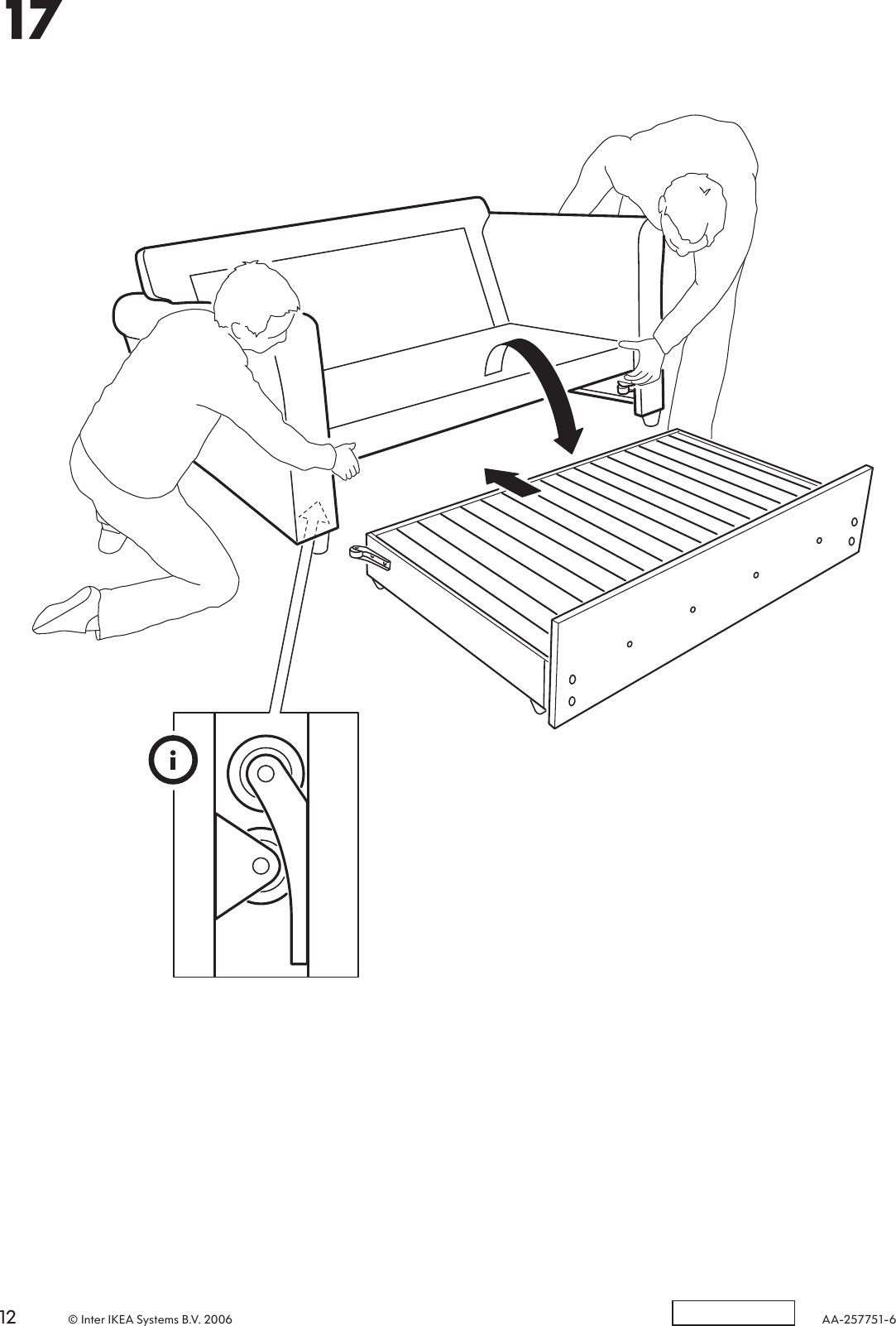 Ikea Hagalund Sofa Bed Frame Assembly Instruction