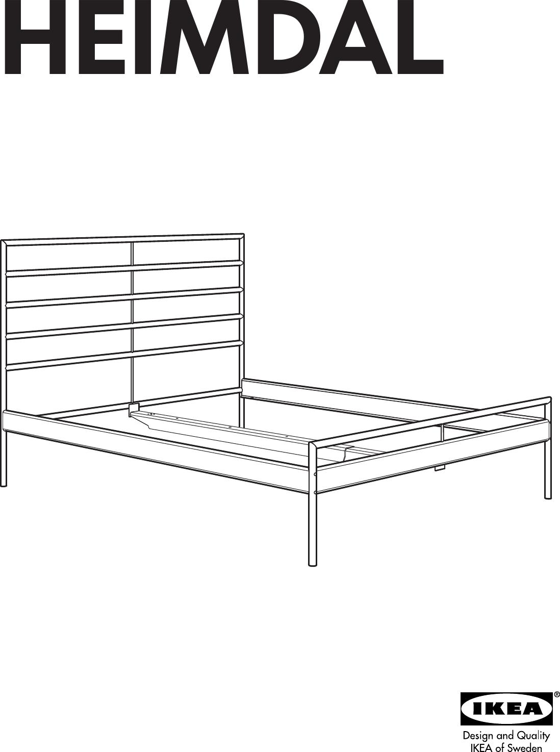 ikea heimdal head footboard queen assembly instruction rh usermanual wiki IKEA Heimdal Full Size ikea heimdal instructions