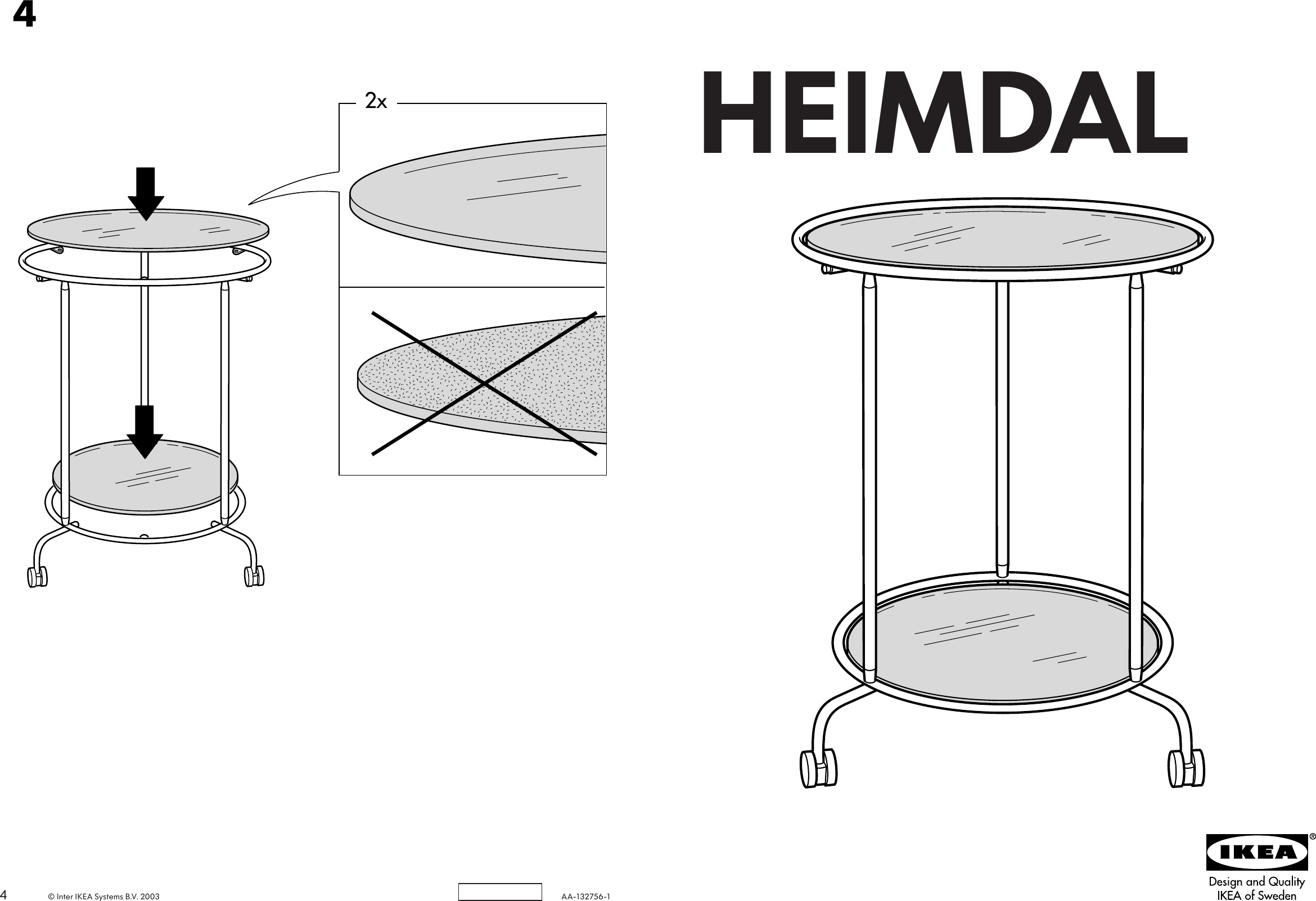 ikea heimdal table 19 5 8 assembly instruction rh usermanual wiki IKEA Heimdal Full Size IKEA Heimdal Bed Assembly Directions