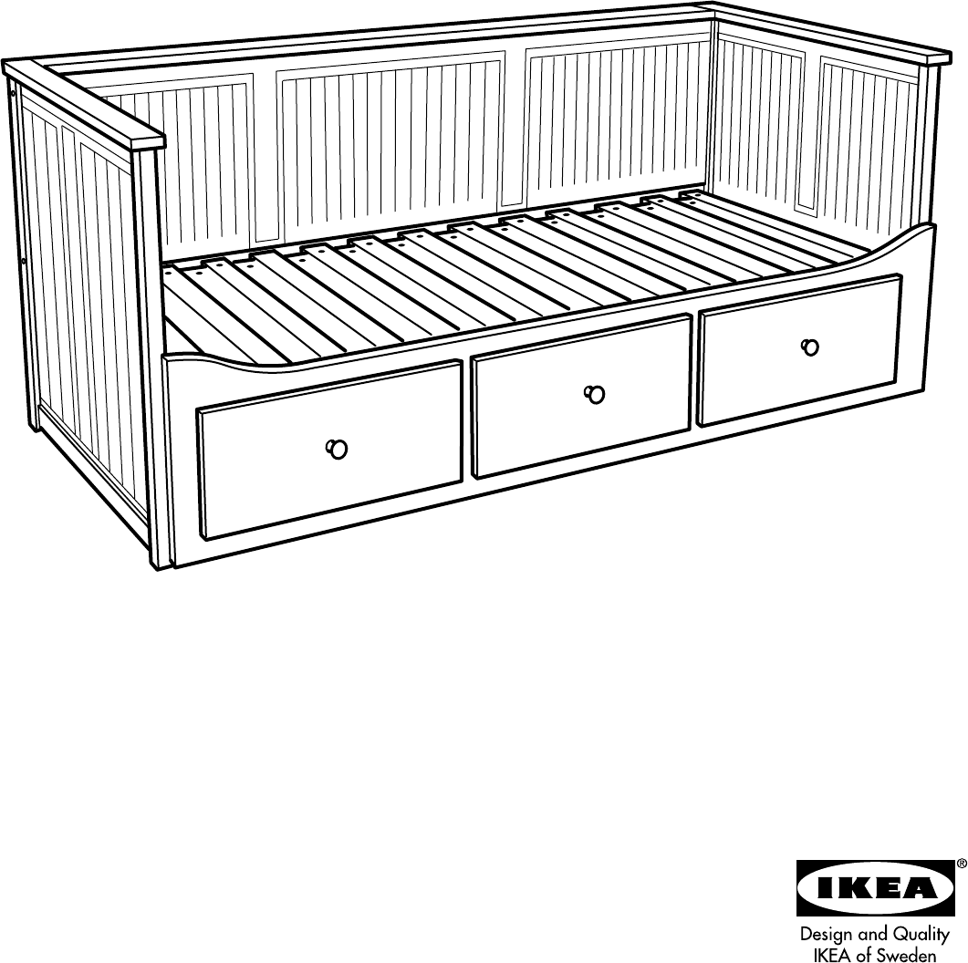 Admirable Ikea Hemnes Day Bed W 3 Drawers Assembly Instruction Pabps2019 Chair Design Images Pabps2019Com