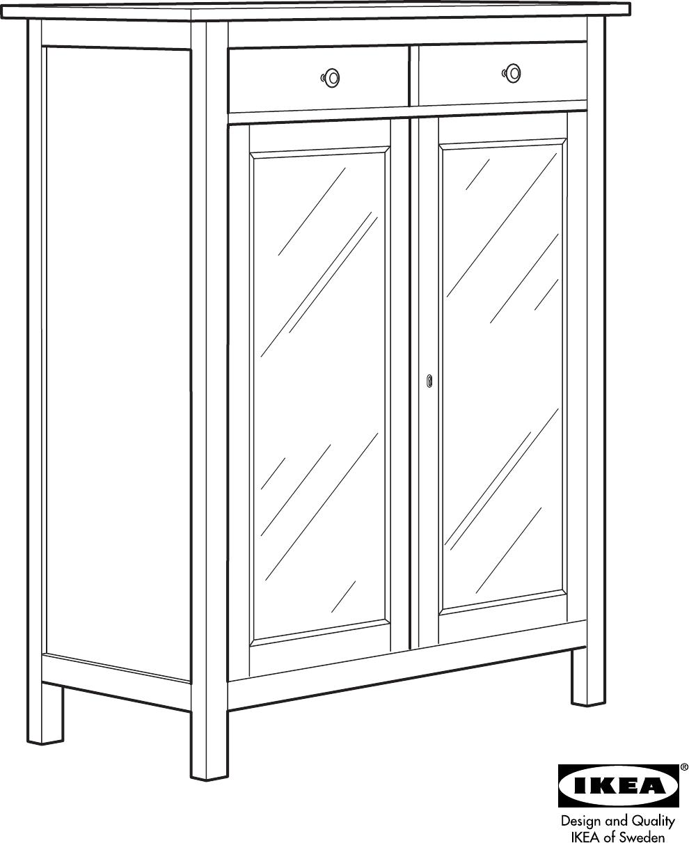 Ikea Hemnes Linen Cabinet Assembly Instruction