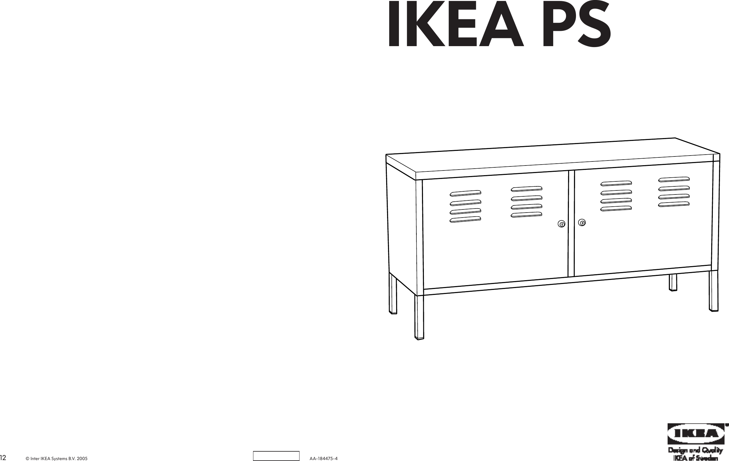 Ikea Ps Cabinet 46 7 8x24 3 4 Assembly Instruction