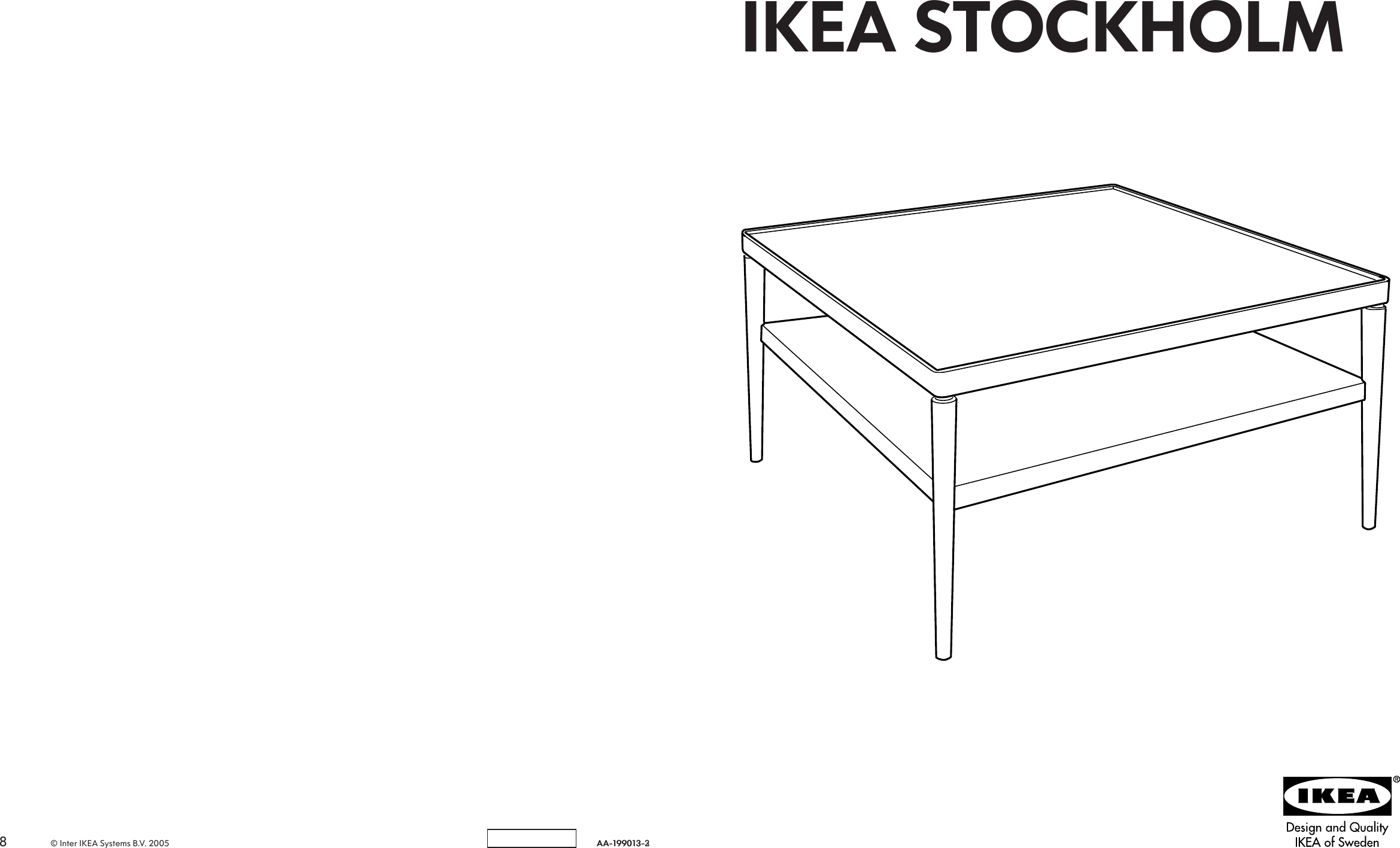 Ikea Stockholm Coffee Table 35x35 Assembly Instruction