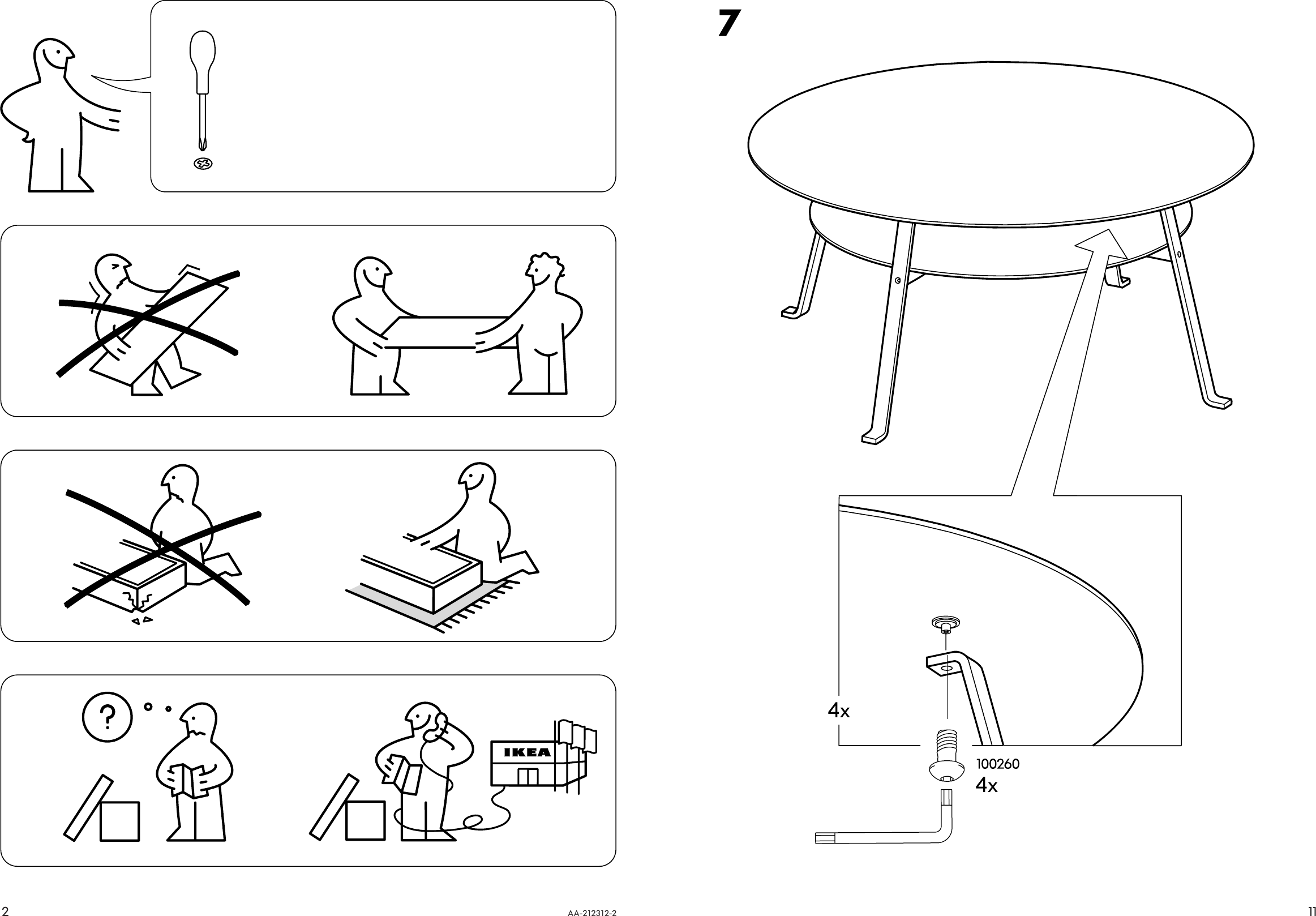 Ikea Stockholm Coffee Table 38 Assembly Instruction