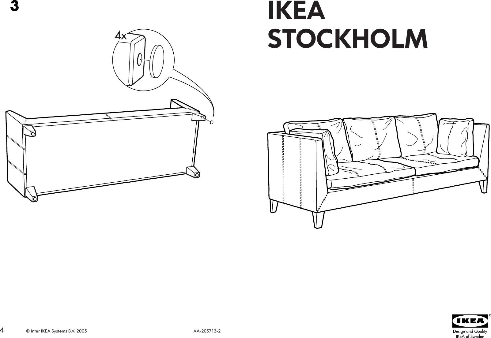 Pleasant Ikea Stockholm Leather Sofa Frame Assembly Instruction Interior Design Ideas Ghosoteloinfo