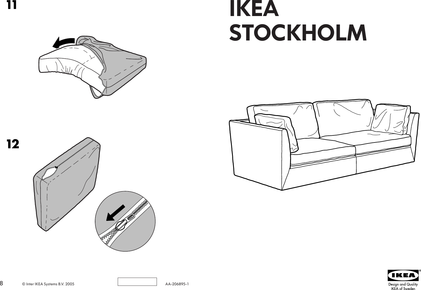 Superb Ikea Stockholm Sofa Cover 3 5 Seat Assembly Instruction Interior Design Ideas Ghosoteloinfo