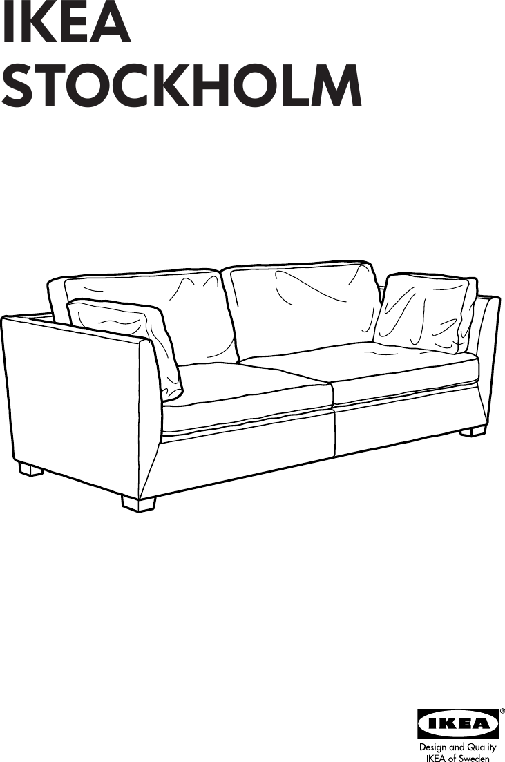 Phenomenal Ikea Stockholm Sofa Frame 3 5 Seat Assembly Instruction Interior Design Ideas Ghosoteloinfo