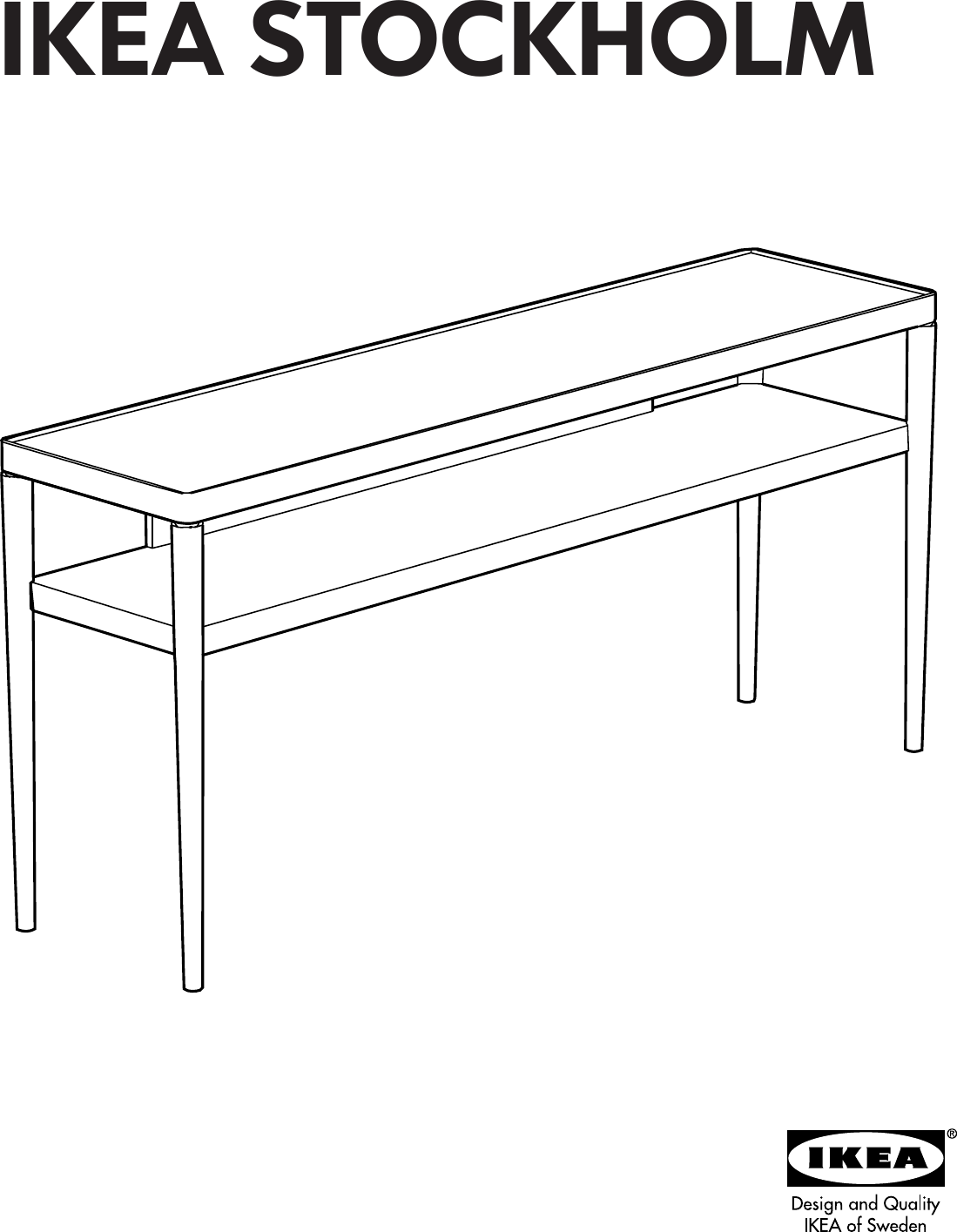 Remarkable Ikea Stockholm Sofa Table 59X15 Assembly Instruction Interior Design Ideas Ghosoteloinfo