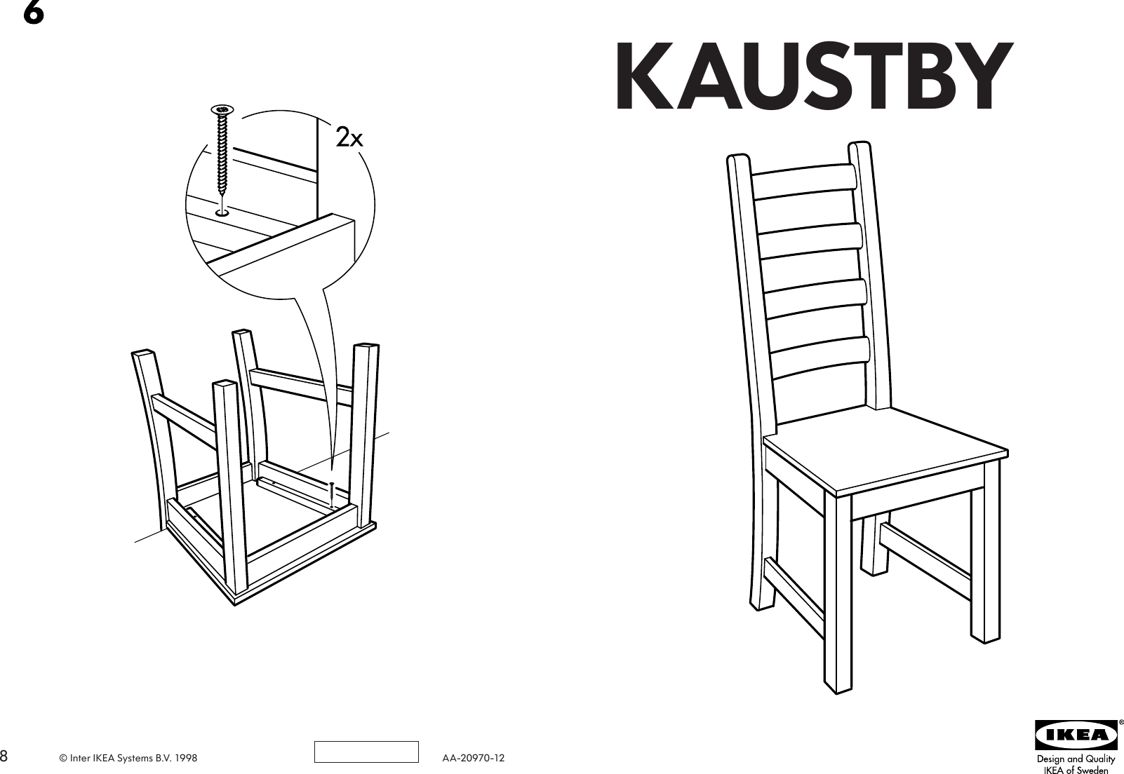 Ikea Kaustby Chair Assembly Instruction