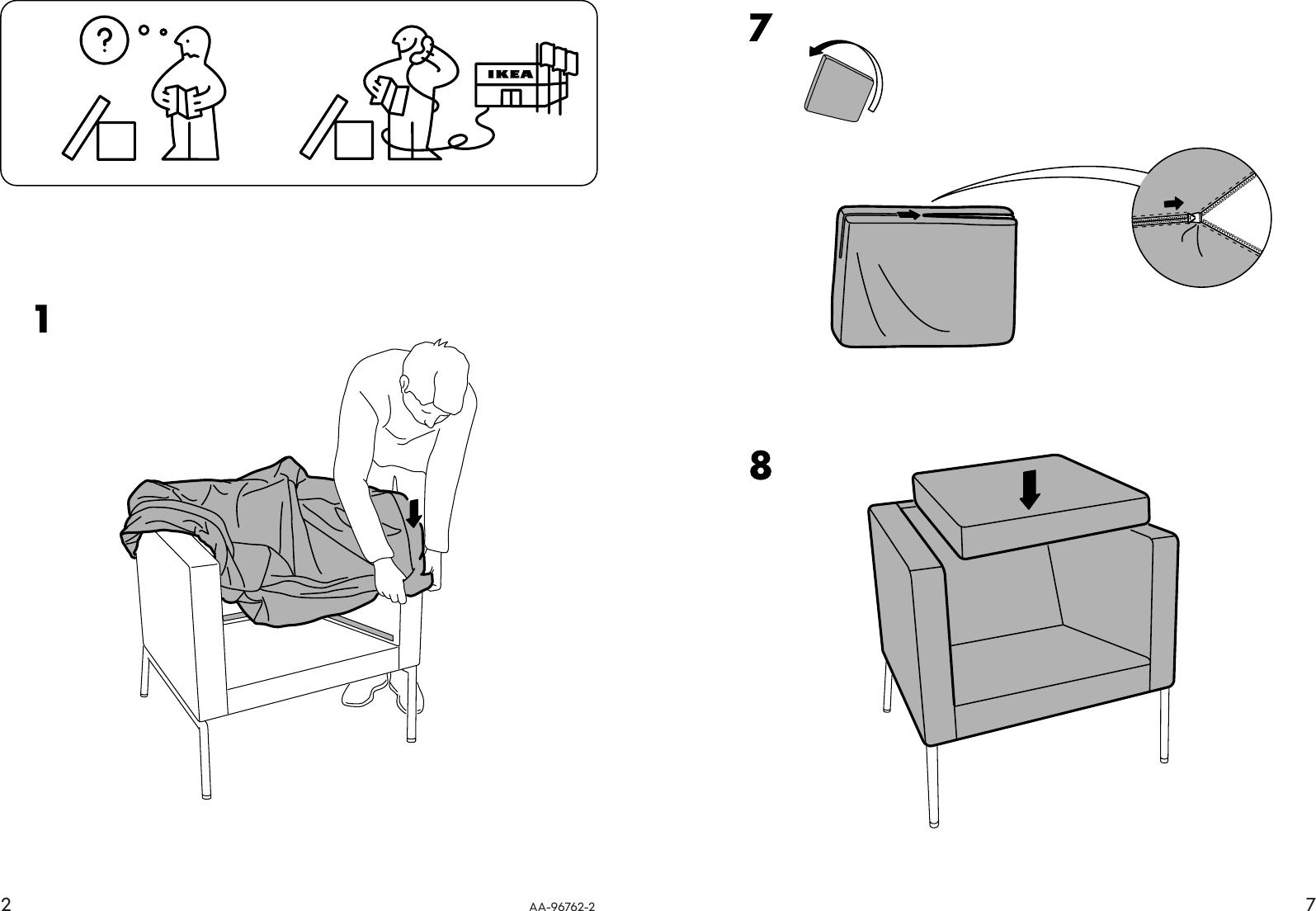Enjoyable Ikea Klappsta Chair Cover Assembly Instruction Inzonedesignstudio Interior Chair Design Inzonedesignstudiocom