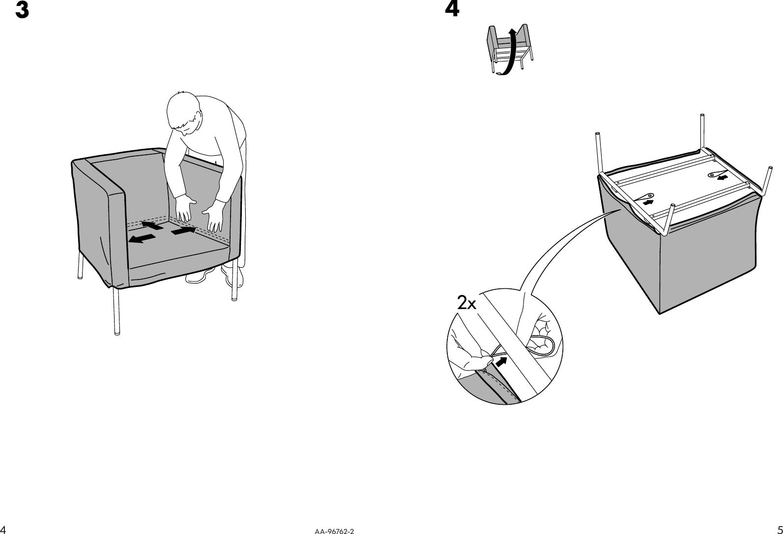 Astonishing Ikea Klappsta Chair Cover Assembly Instruction Inzonedesignstudio Interior Chair Design Inzonedesignstudiocom