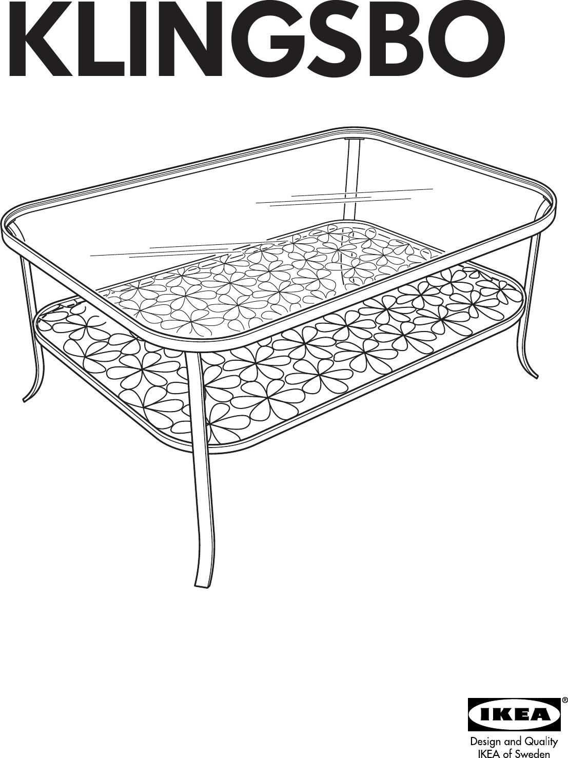 Ikea Klingsbo Coffee Table 45x20 Embly Instruction