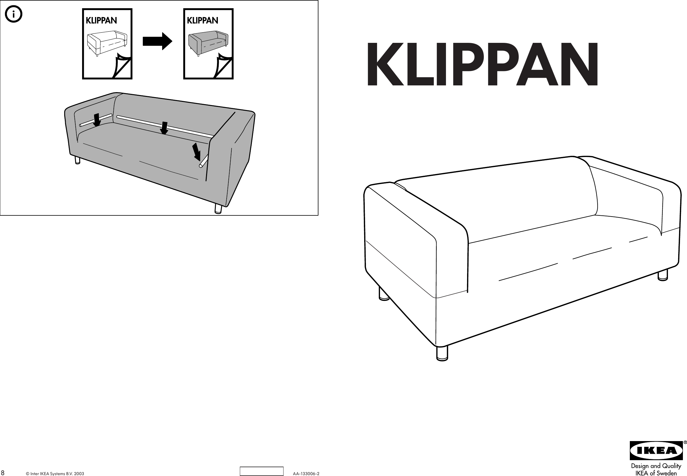 Fine Ikea Klippan Loveseat Frame Assembly Instruction 2 Gmtry Best Dining Table And Chair Ideas Images Gmtryco