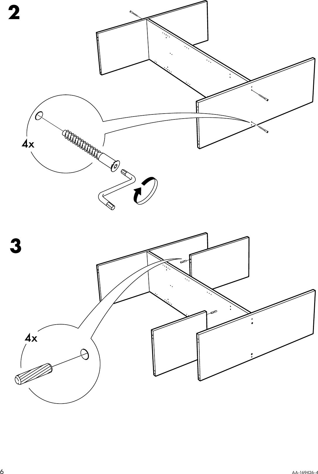 3doors Wardrobe Instruction 57x75 Assembly Ikea Kullen W srthQdCx