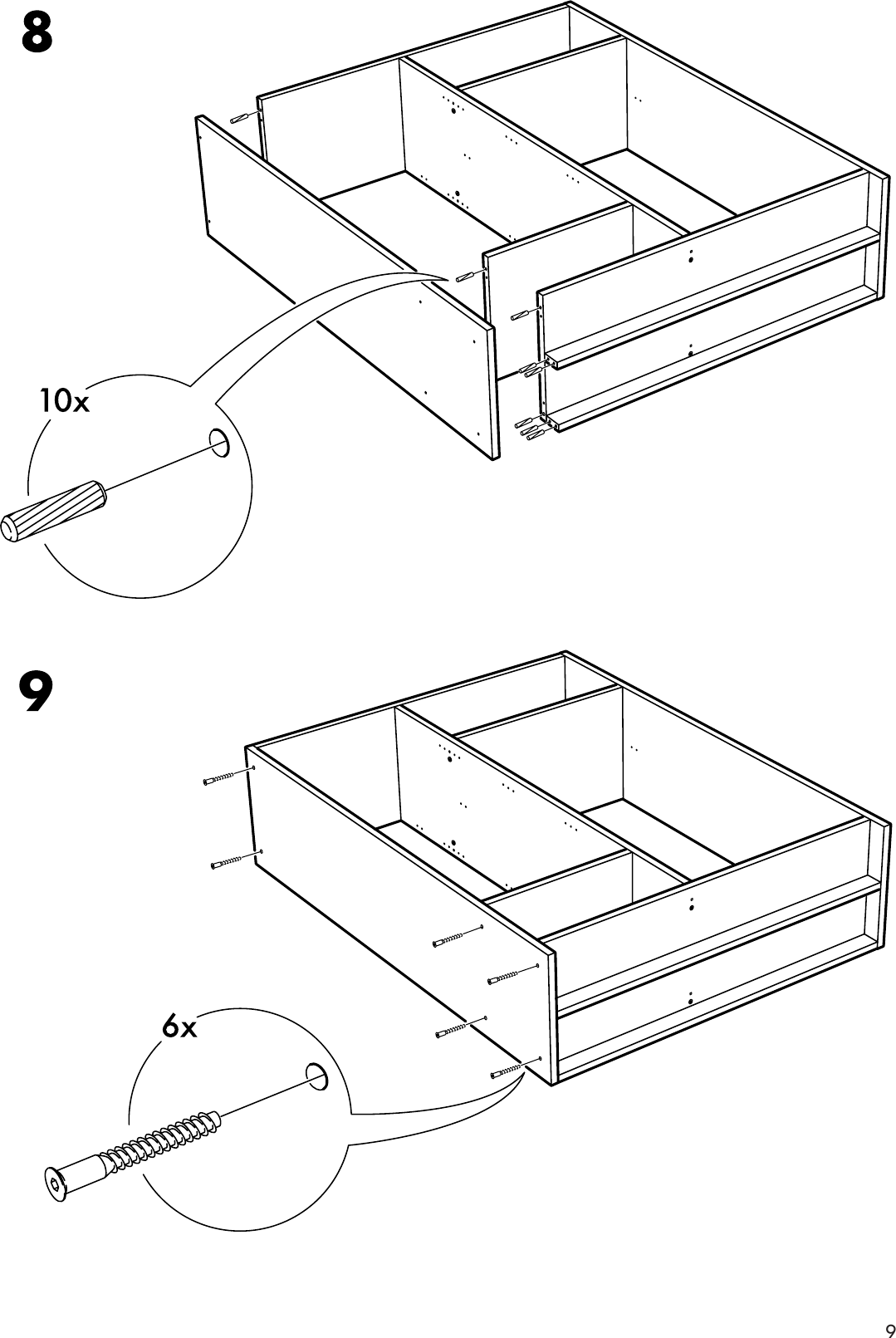 Assembly 3doors W 57x75 Ikea Instruction Kullen Wardrobe DEYW9IH2