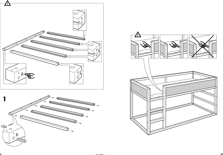 Ikea Kura Reversible Bed 38x75 Assembly Instruction