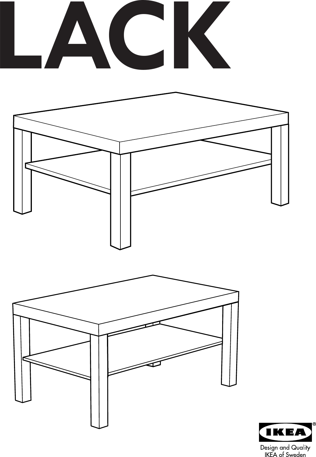 Ikea Lack Coffee Table 35x22x18 Assembly Instruction [ 1563 x 1081 Pixel ]