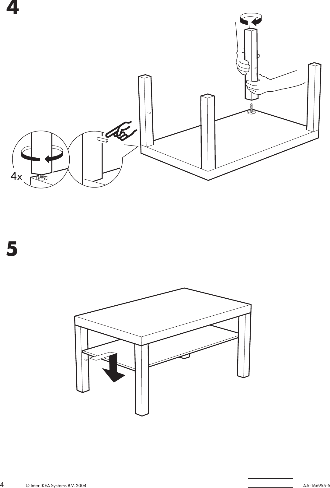 Ikea Lack Coffee Table 35x22x18 Assembly Instruction [ 1603 x 1085 Pixel ]