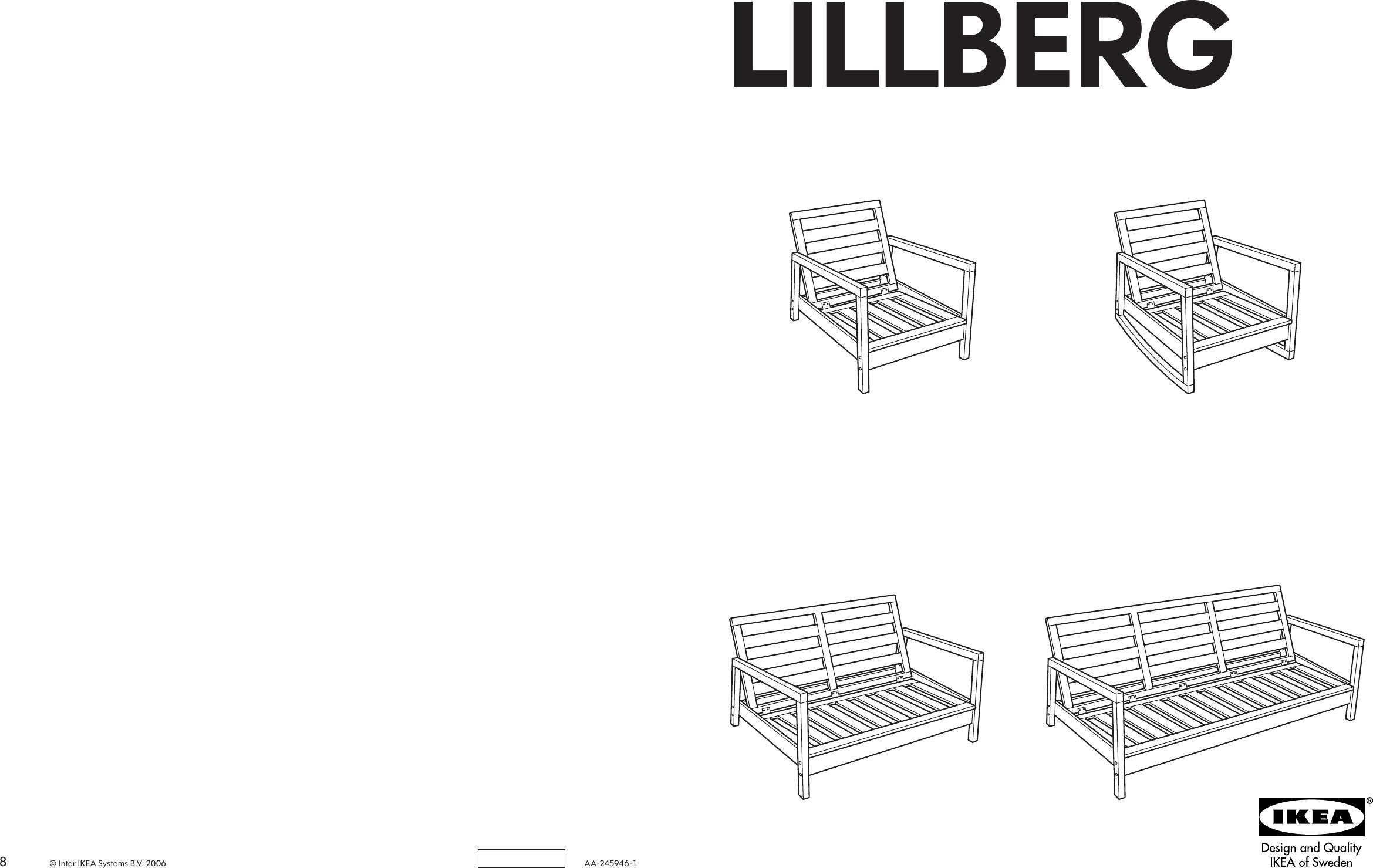 Wondrous Ikea Lillberg Rocking Chair Frame Assembly Instruction Theyellowbook Wood Chair Design Ideas Theyellowbookinfo