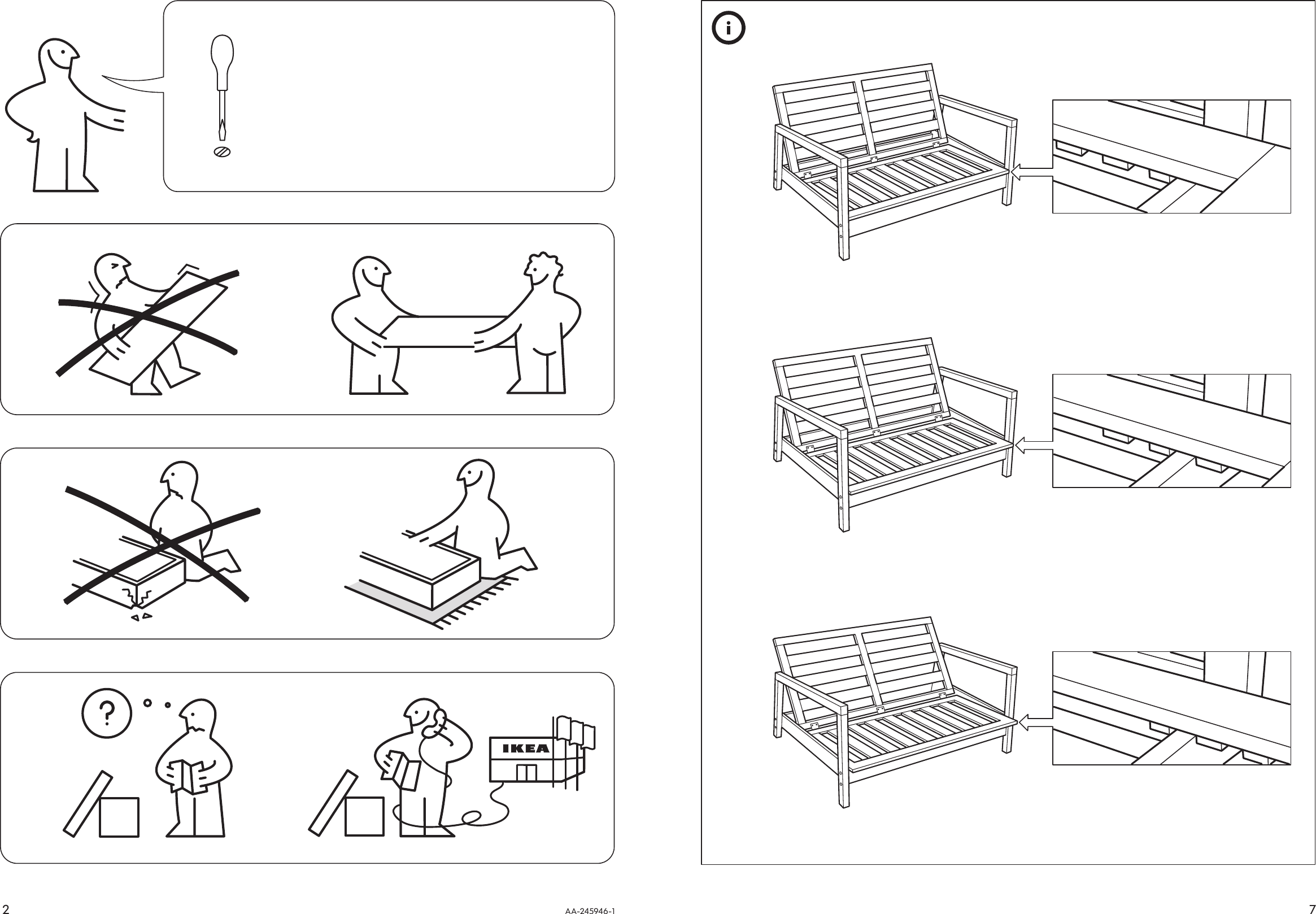Astounding Ikea Lillberg Rocking Chair Frame Assembly Instruction Theyellowbook Wood Chair Design Ideas Theyellowbookinfo