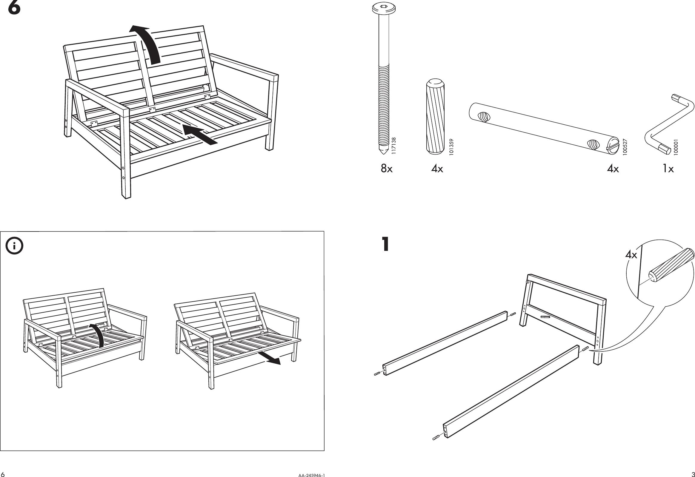 Tremendous Ikea Lillberg Rocking Chair Frame Assembly Instruction Theyellowbook Wood Chair Design Ideas Theyellowbookinfo