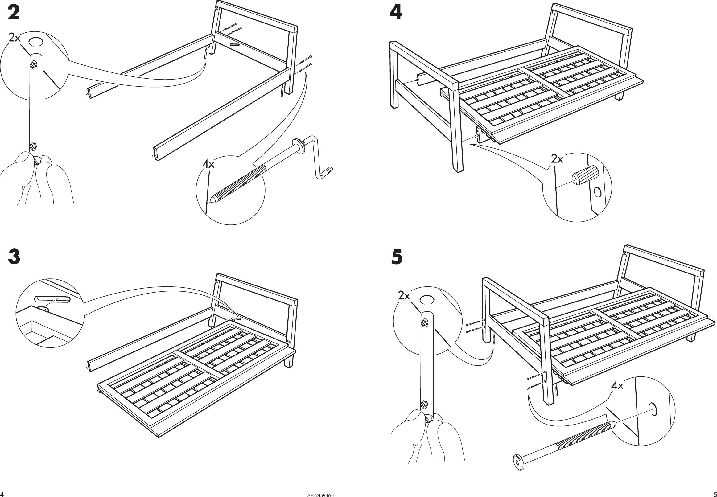 Sensational Ikea Lillberg Rocking Chair Frame Assembly Instruction Theyellowbook Wood Chair Design Ideas Theyellowbookinfo