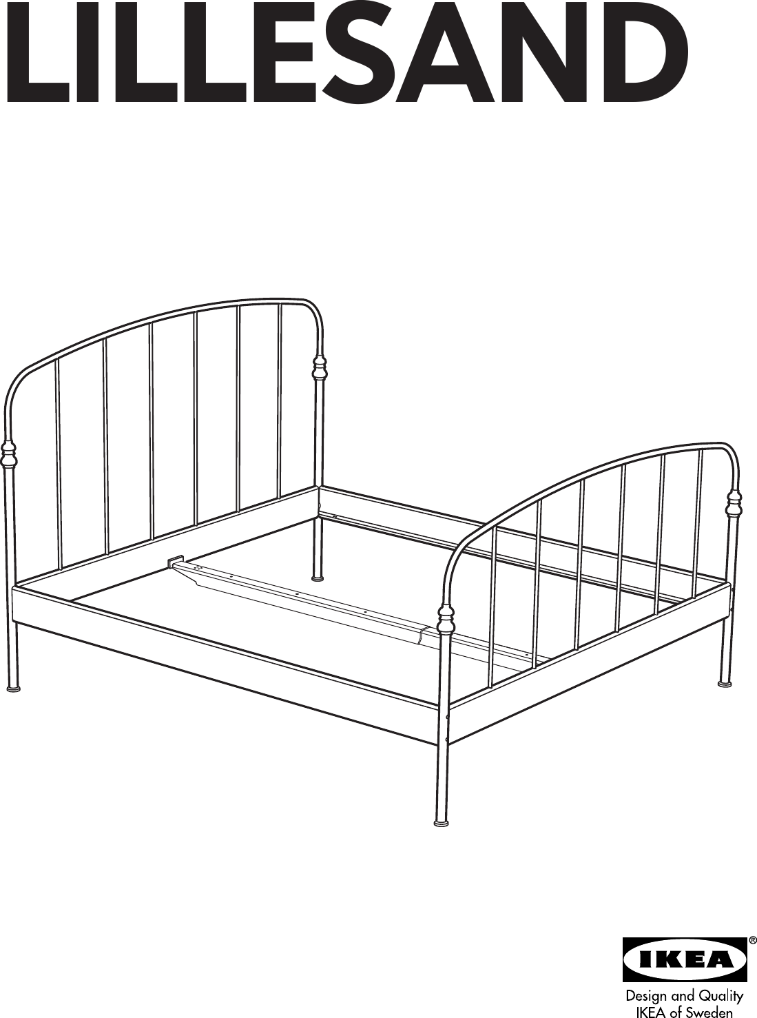 Ikea Lillesand Bed Frame Full Queen King Assembly Instruction