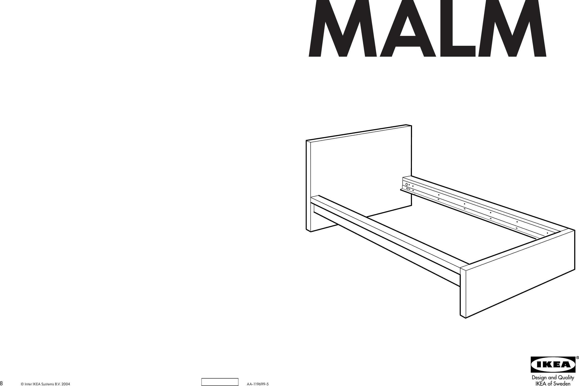 Ikea Malm Bed Frame Twin Assembly Instruction