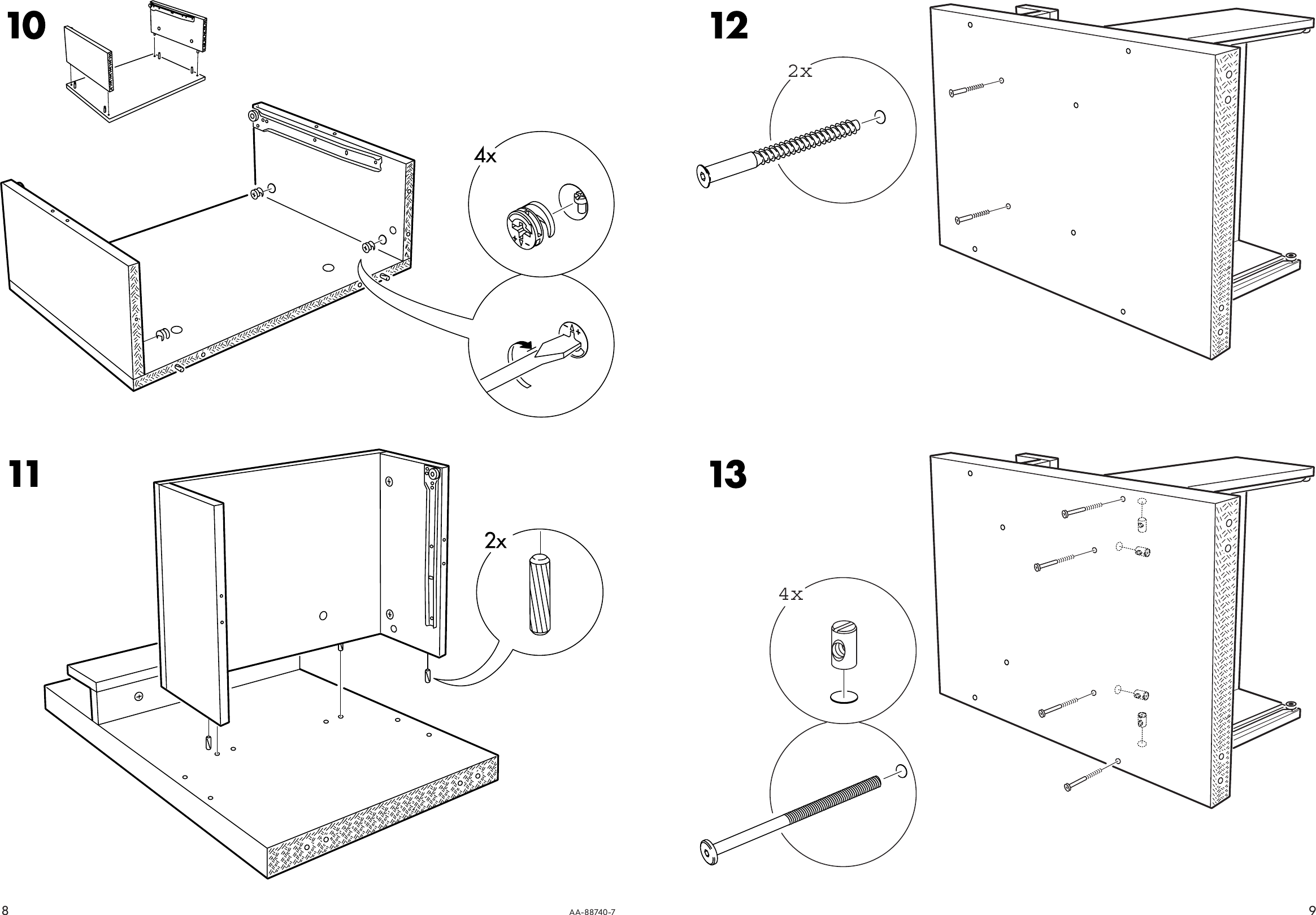 Ikea Malm Bedside Table 20x16 Assembly Instruction