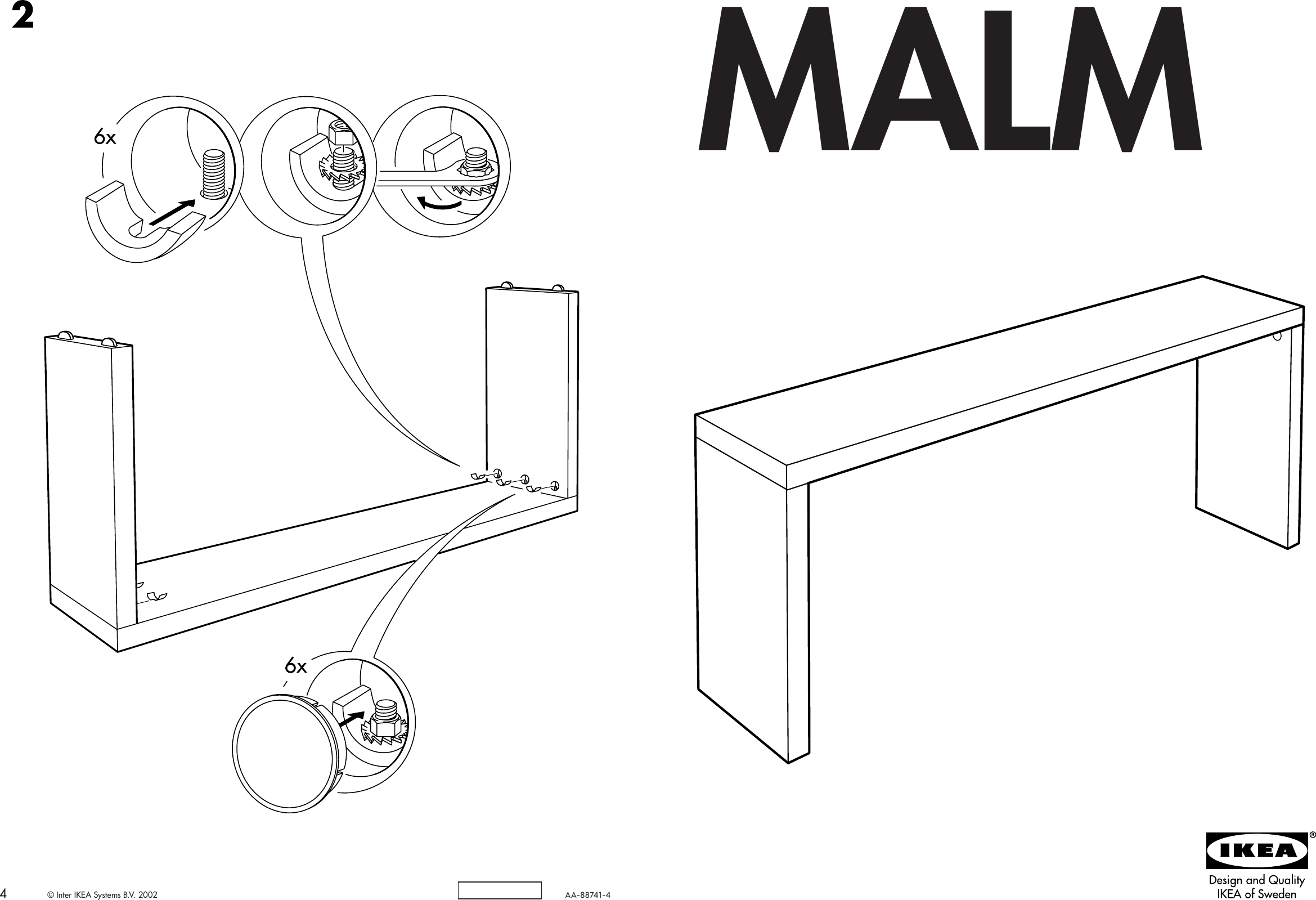 Ikea Malm Occasional Table 75 1 4x28 7 8 Assembly Instruction