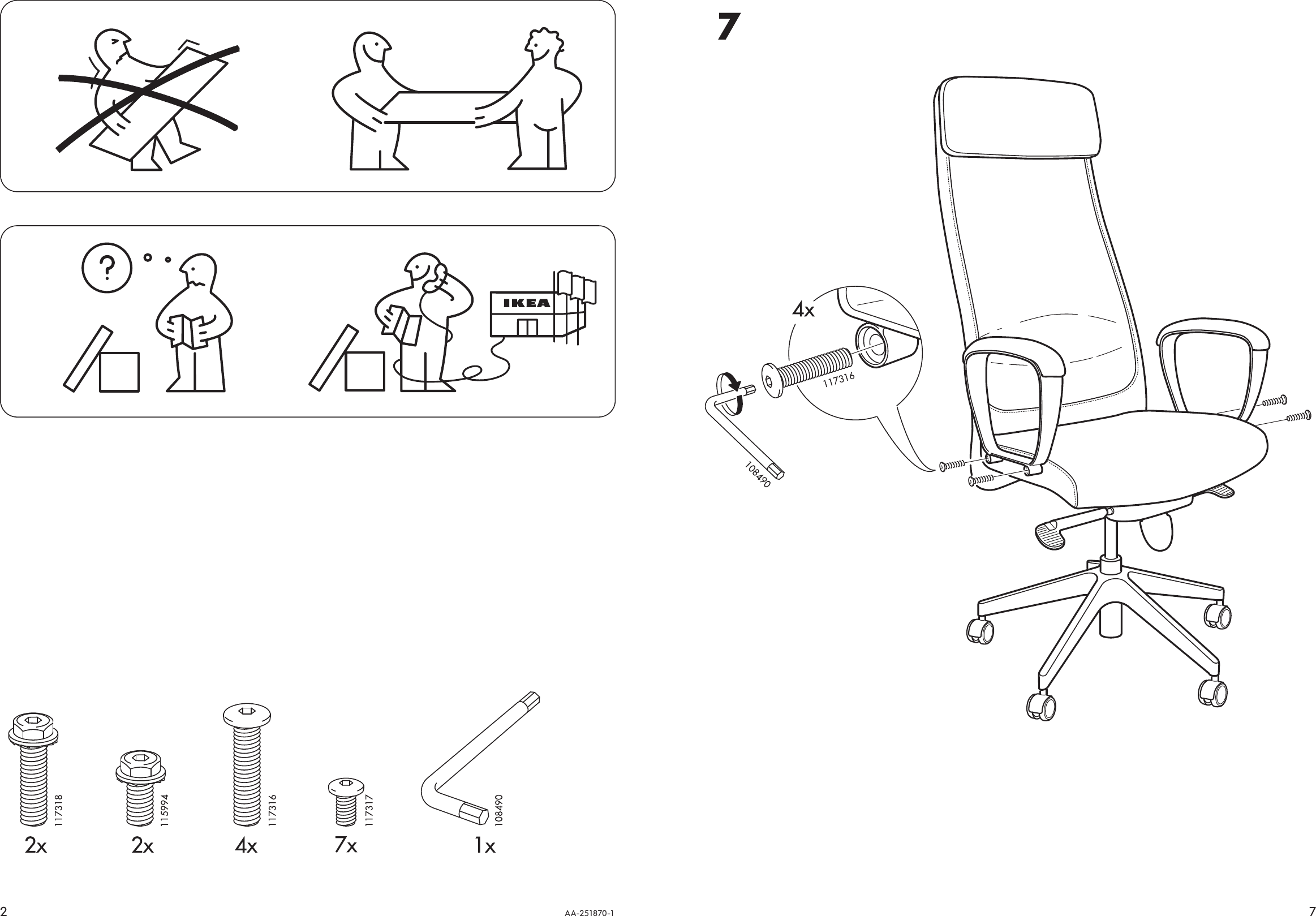 Enjoyable Ikea Markus Swivel Chair Assembly Instruction Andrewgaddart Wooden Chair Designs For Living Room Andrewgaddartcom