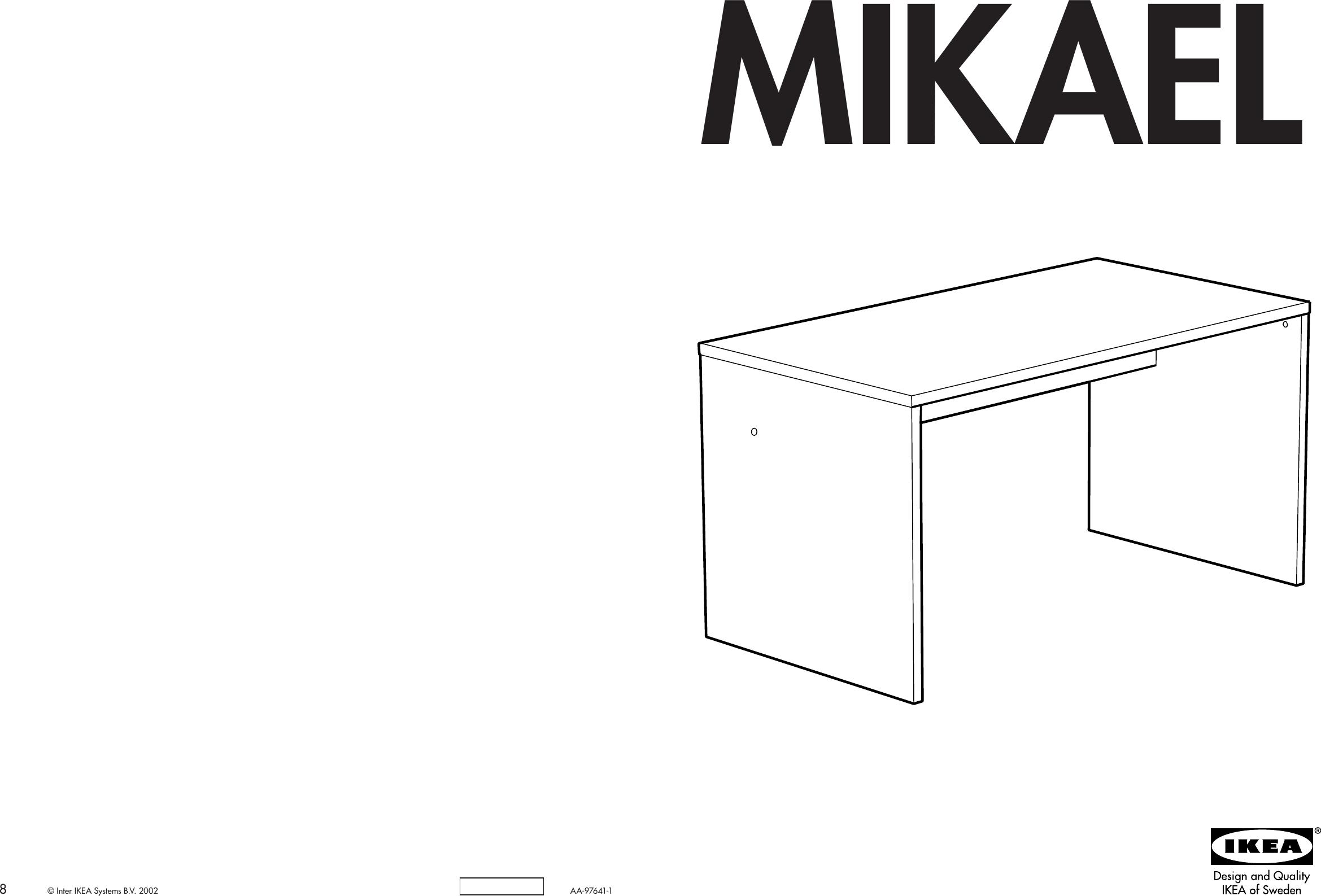 Ikea Mikael Desk 55x30 Assembly Instruction 2