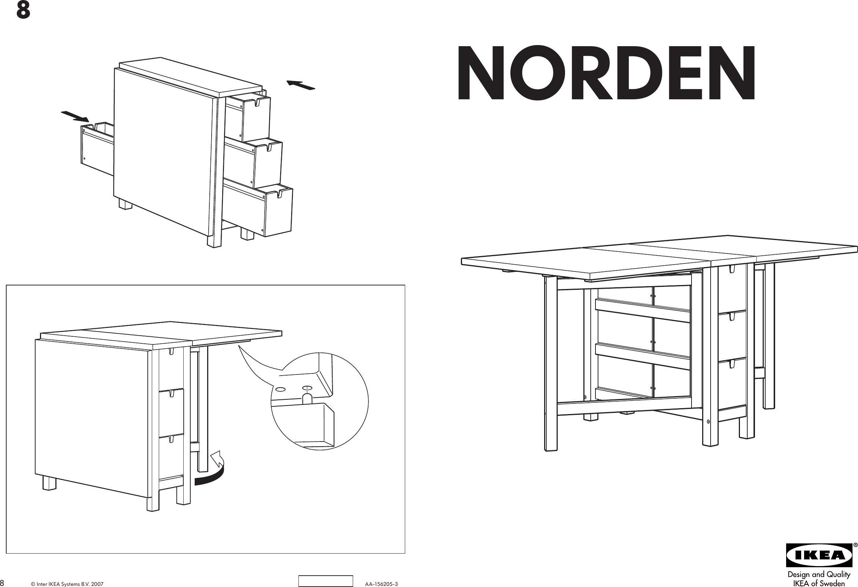 Ikea Norden Gateleg Table 10 35 60x32 Assembly Instruction