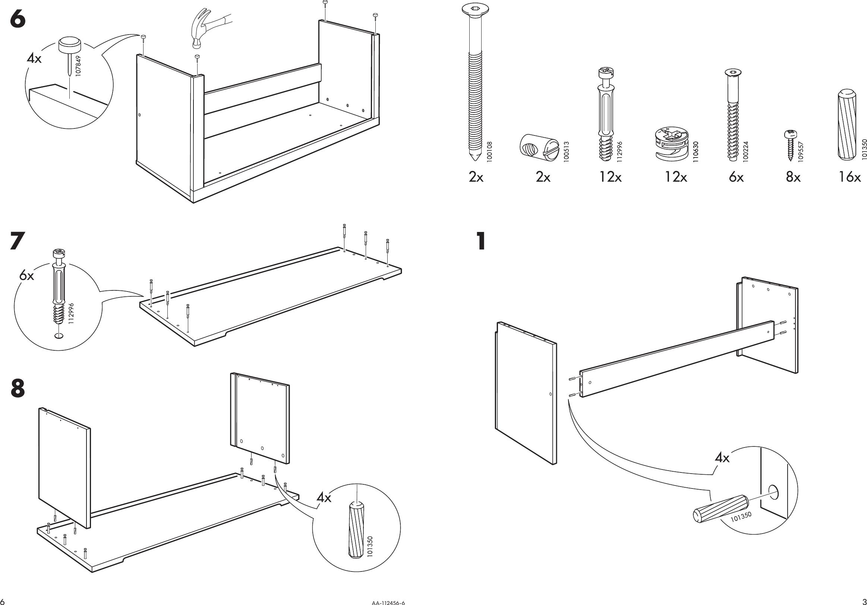 Page 3 of 4 - Ikea Ikea-Norrebo-Storage-Bench-44X17-  sc 1 st  UserManual.wiki & Ikea Norrebo Storage Bench 44X17 Assembly Instruction