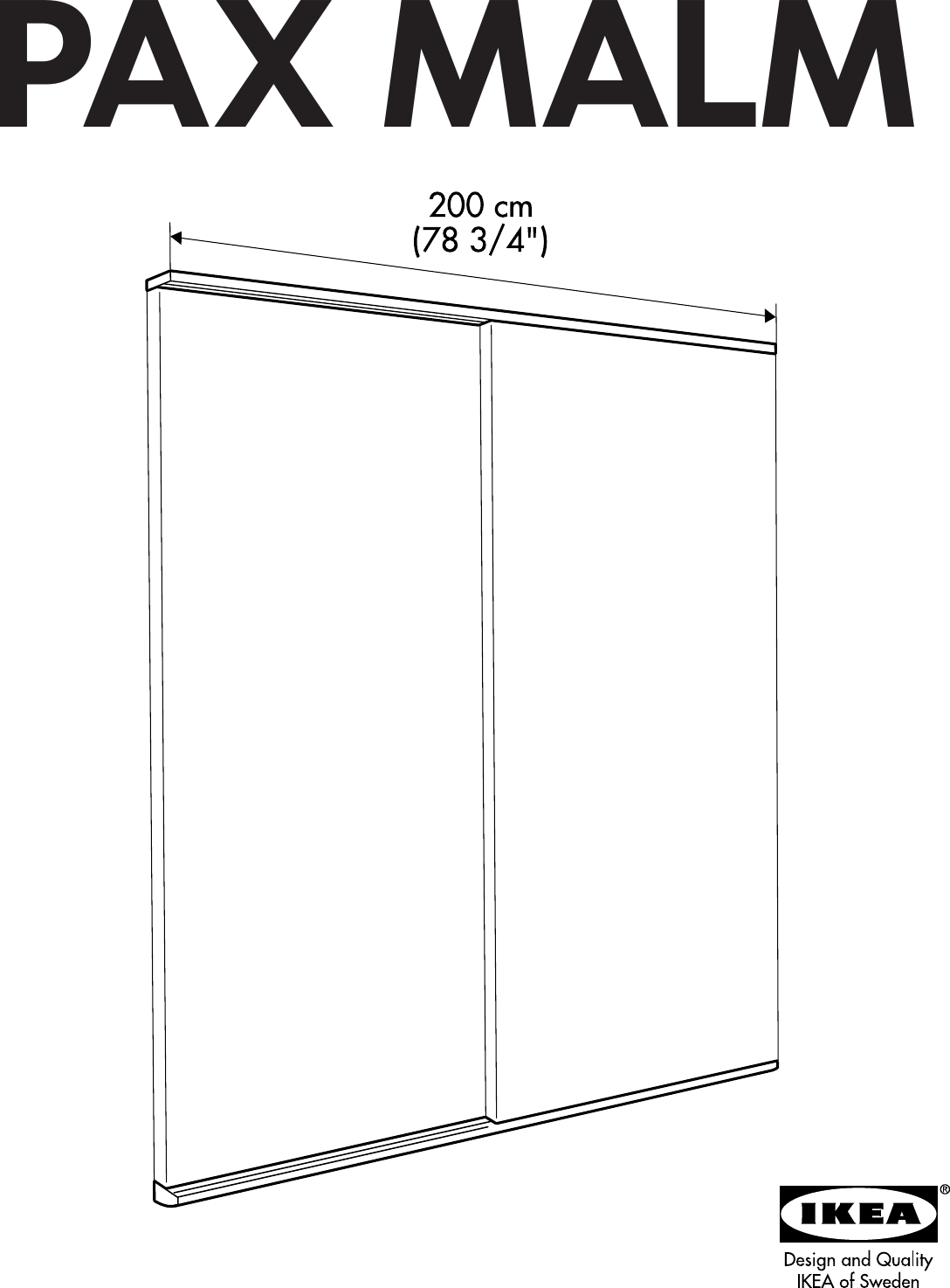Ikea Pax Malm Guide Rail 79x79 Assembly Instruction